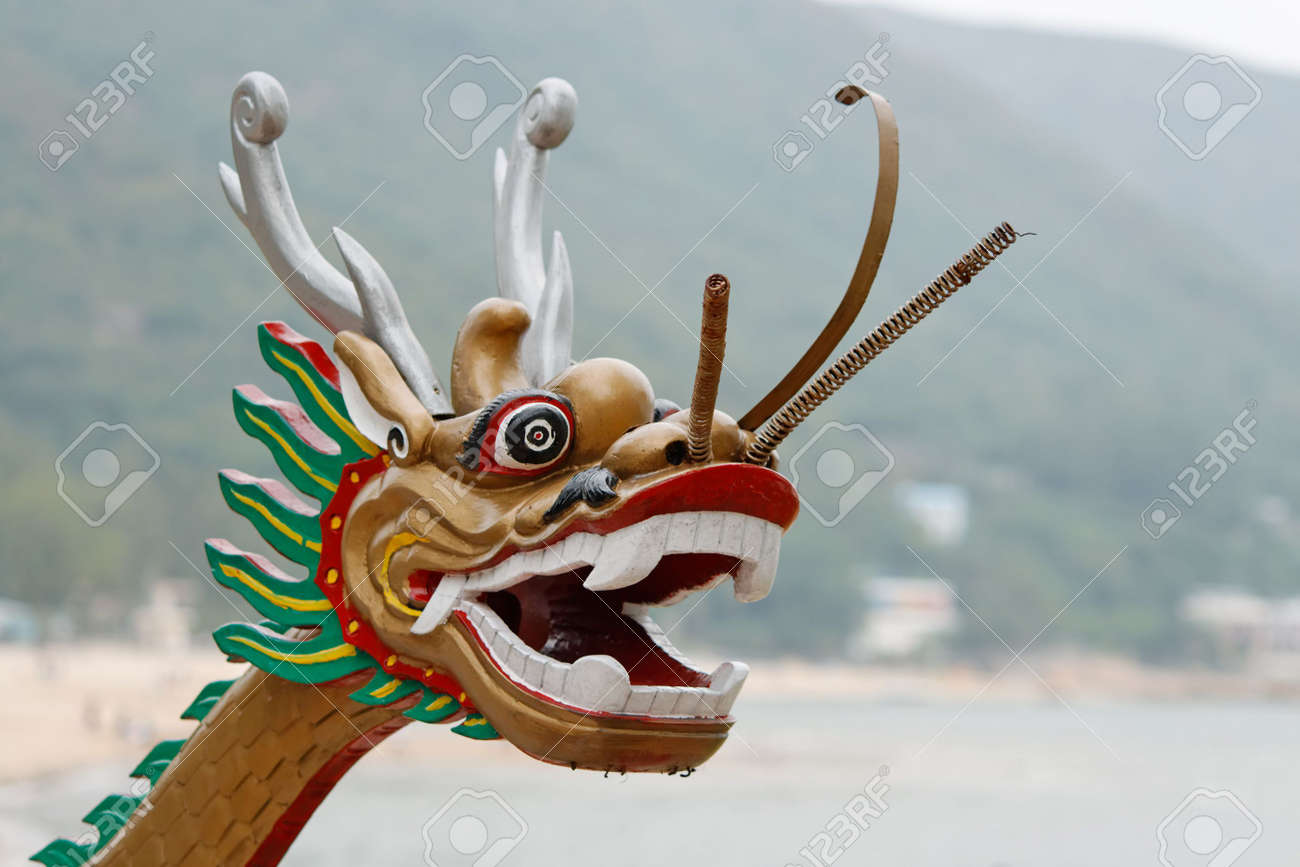 A Chinese dragon head of a dragon boat Stock Photo - 6324568