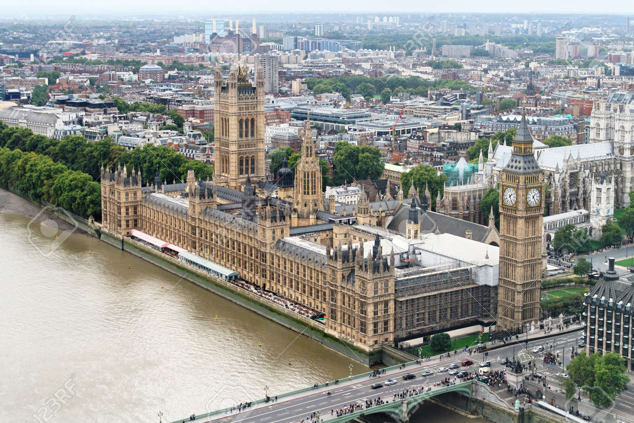 Aerial view of Big Ben and House of Parliament Stock Photo - 6394530