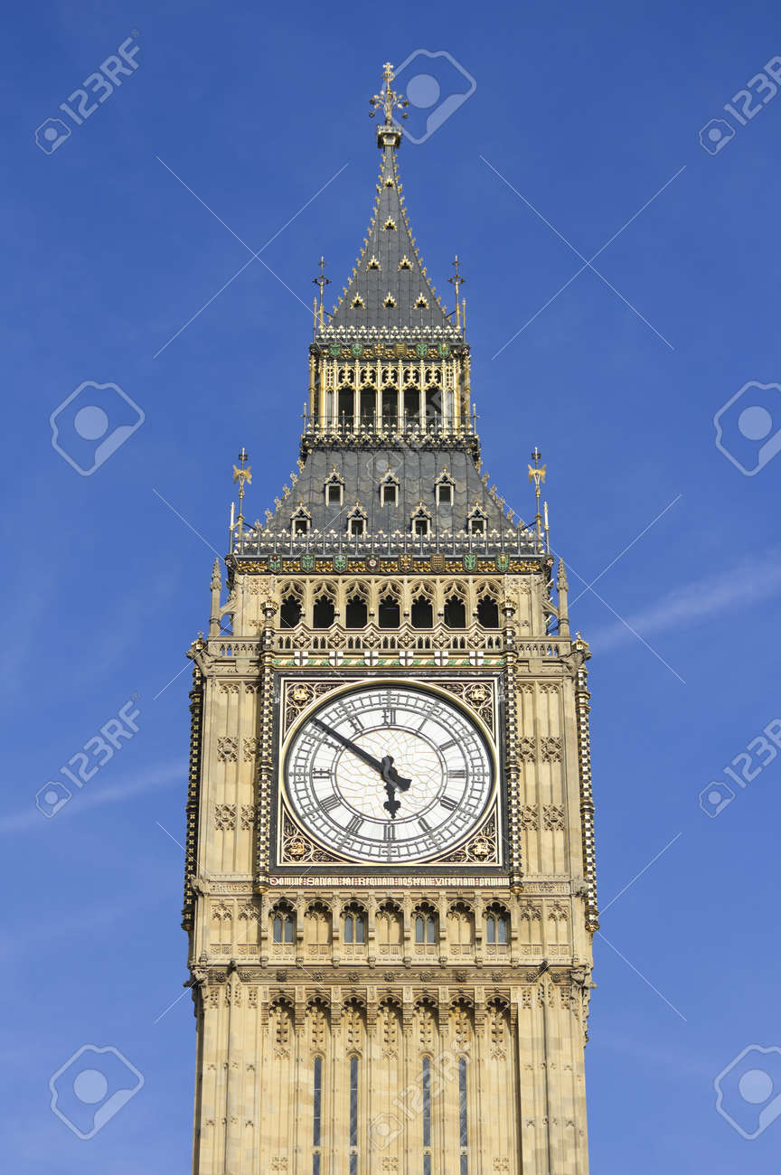 Photo of Big Ben against a blue sky Stock Photo - 9526239