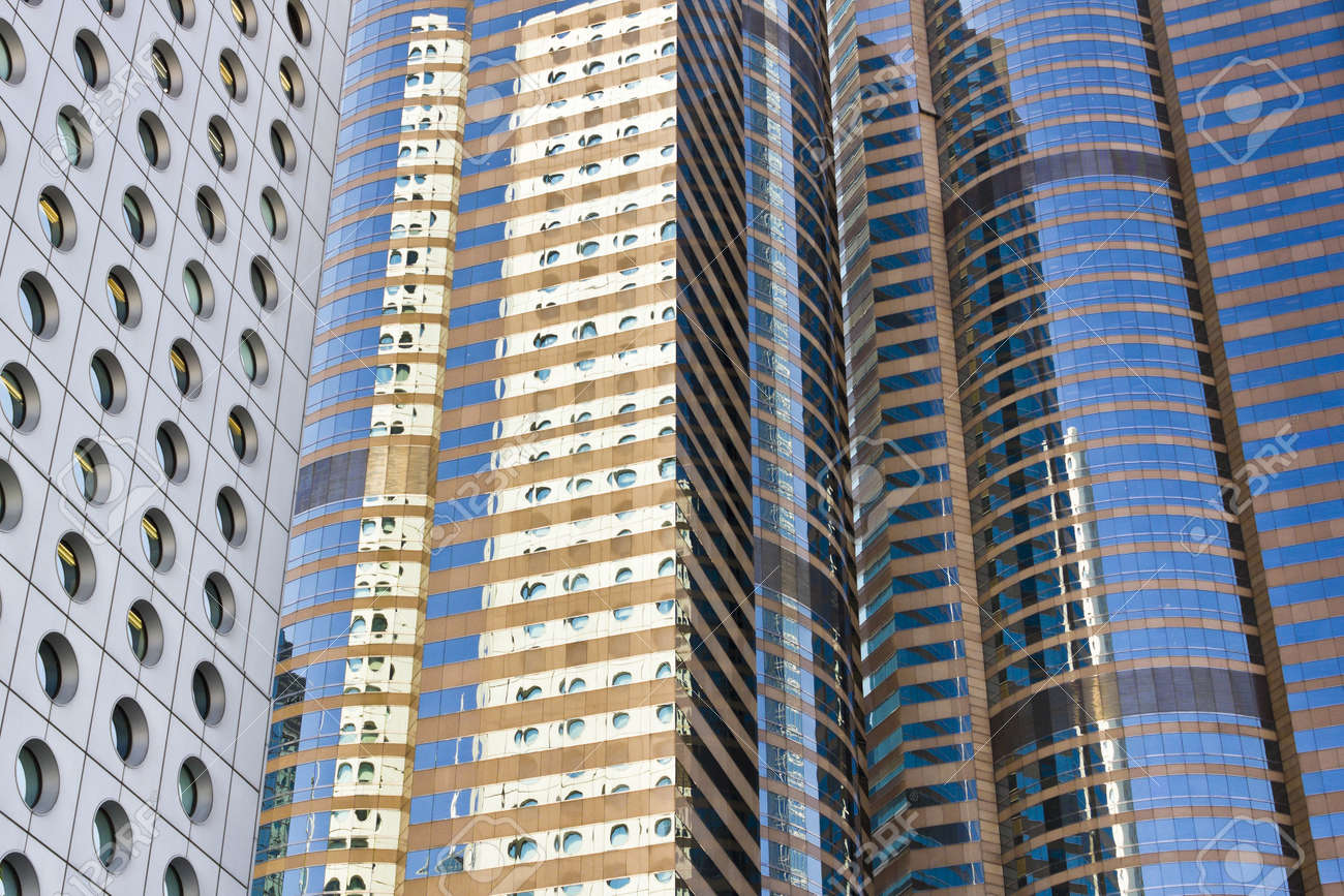 Glass surface of modern Commercial Building in Hong Kong Stock Photo - 11139465