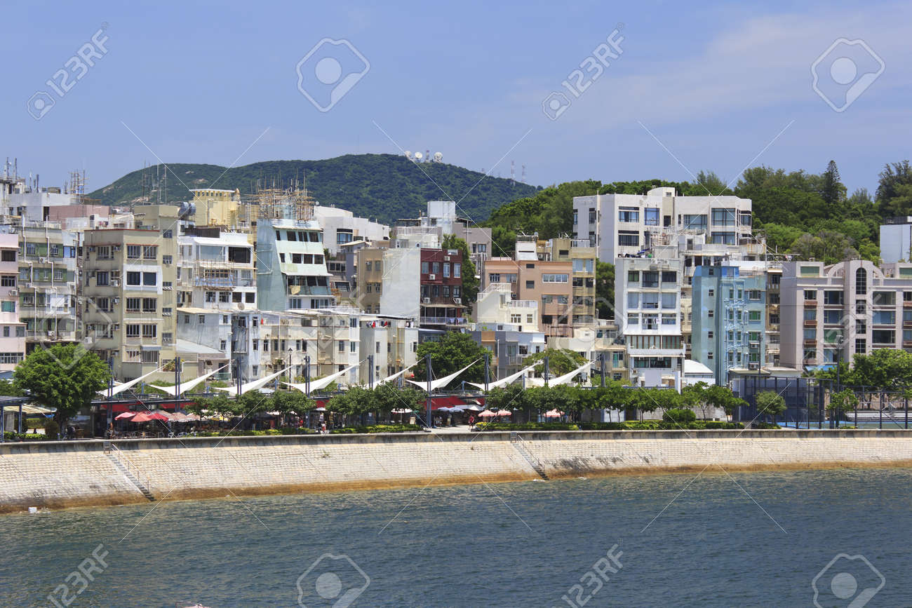 Photo of Stanley Promenade lined with restaurants and cafes and residential buildings Stock Photo - 11874591