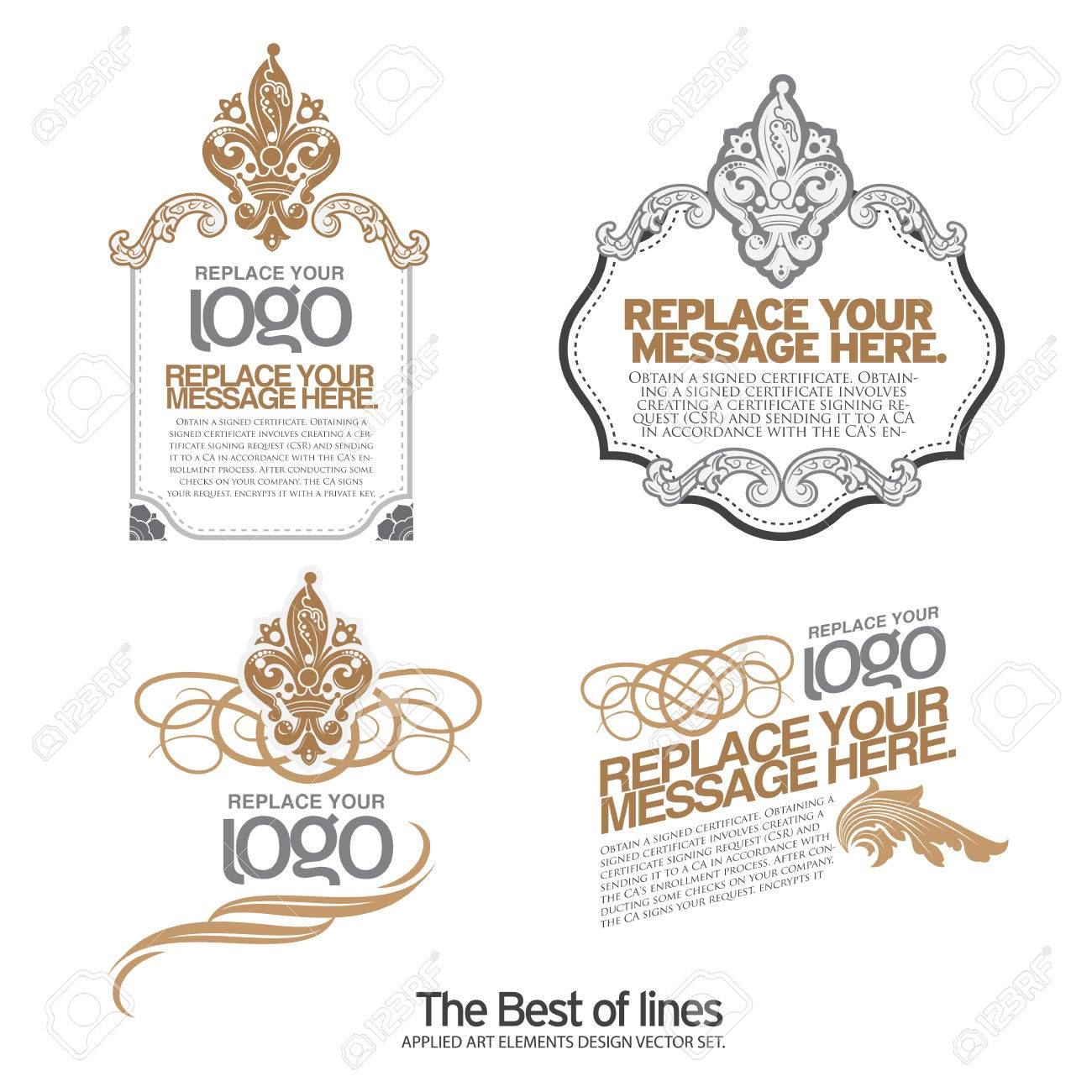 Conjunto de etiquetas de diseño ,, cintas, marcas y elementos de diseño  caligráfico, vector