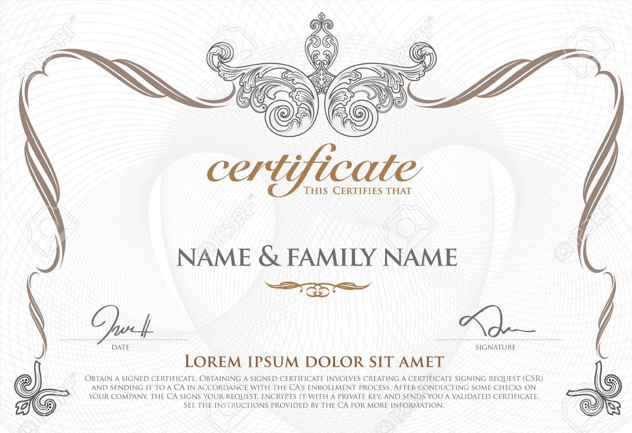 gold certificate template - Fieldstation.co