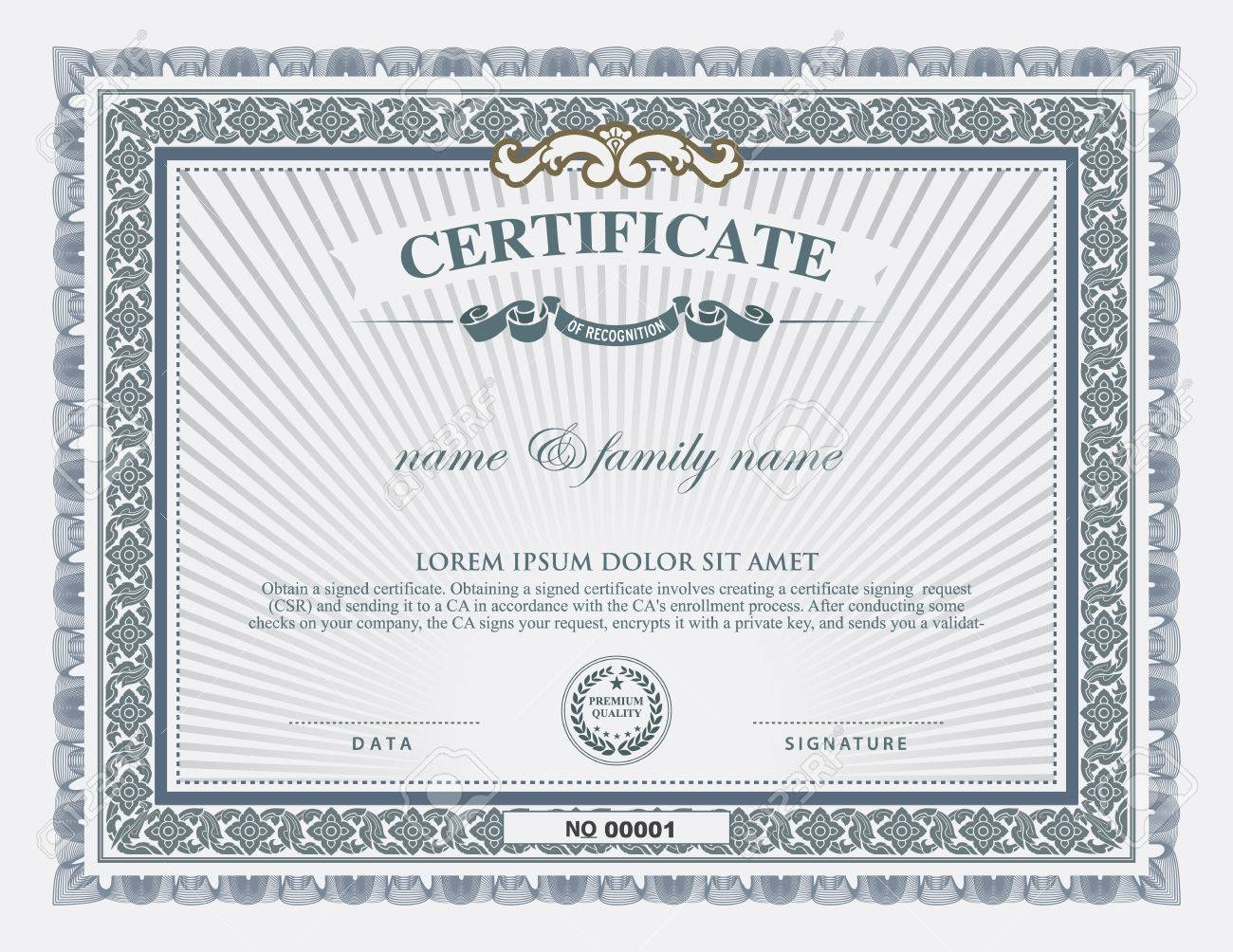 Certificate Template And Element. Royalty Free Cliparts, Vectors ...