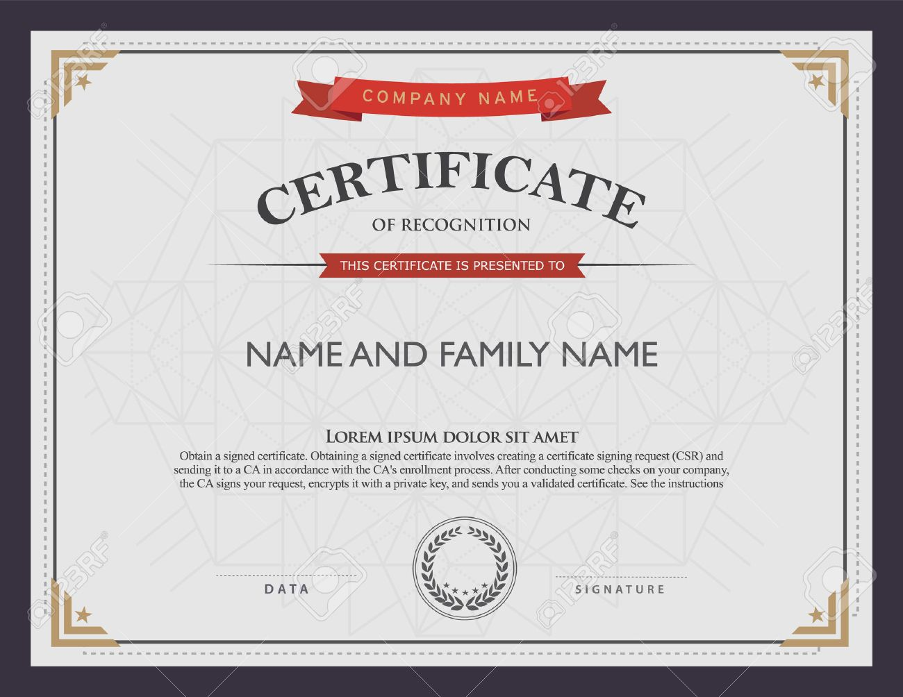 Corporate certificate template proposal template microsoft word vector company certificate templates birthday invitation templates 36988653 certificate template and element stock vector vector company xflitez Image collections