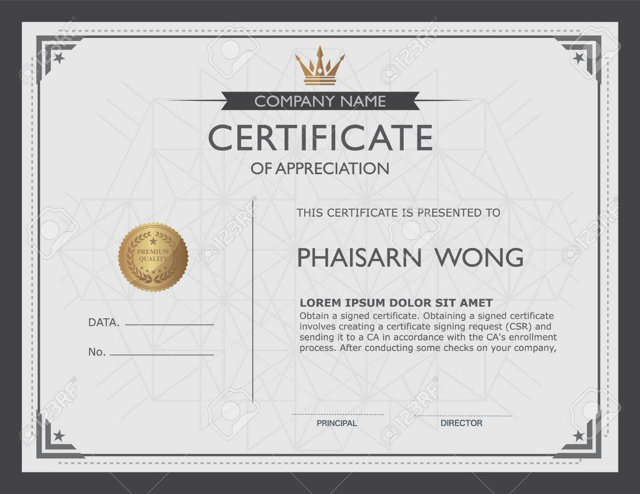 Certificate Template And Element Royalty Free Cliparts Vectors