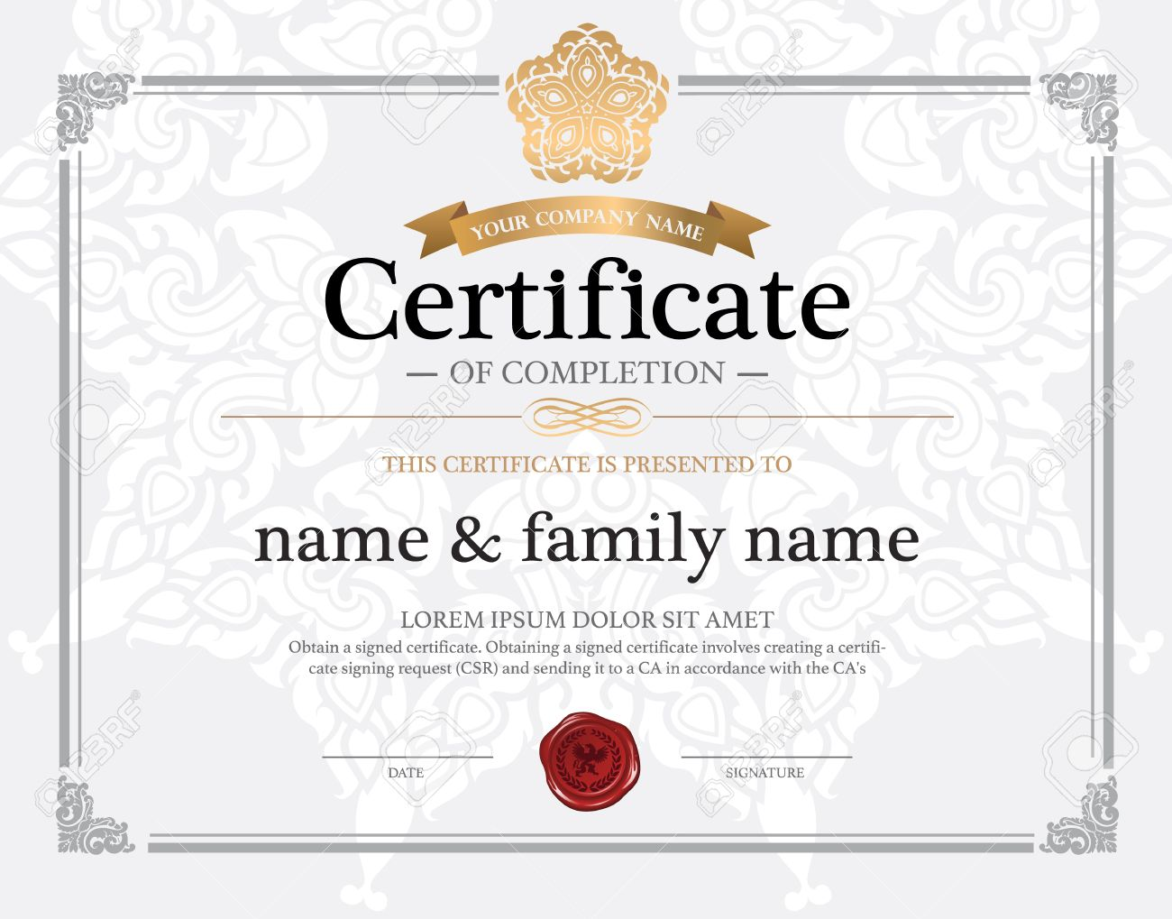 Certificate design template royalty free cliparts vectors and certificate design template stock vector 38885918 yadclub Choice Image