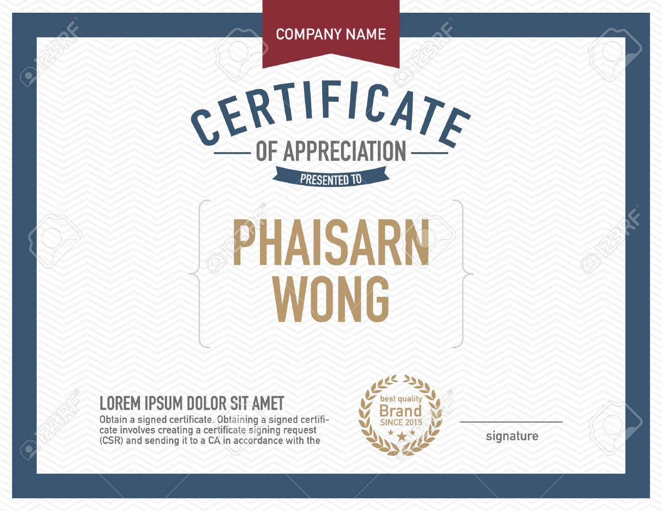Modern Certificate Template. Royalty Free Cliparts, Vectors, And ...