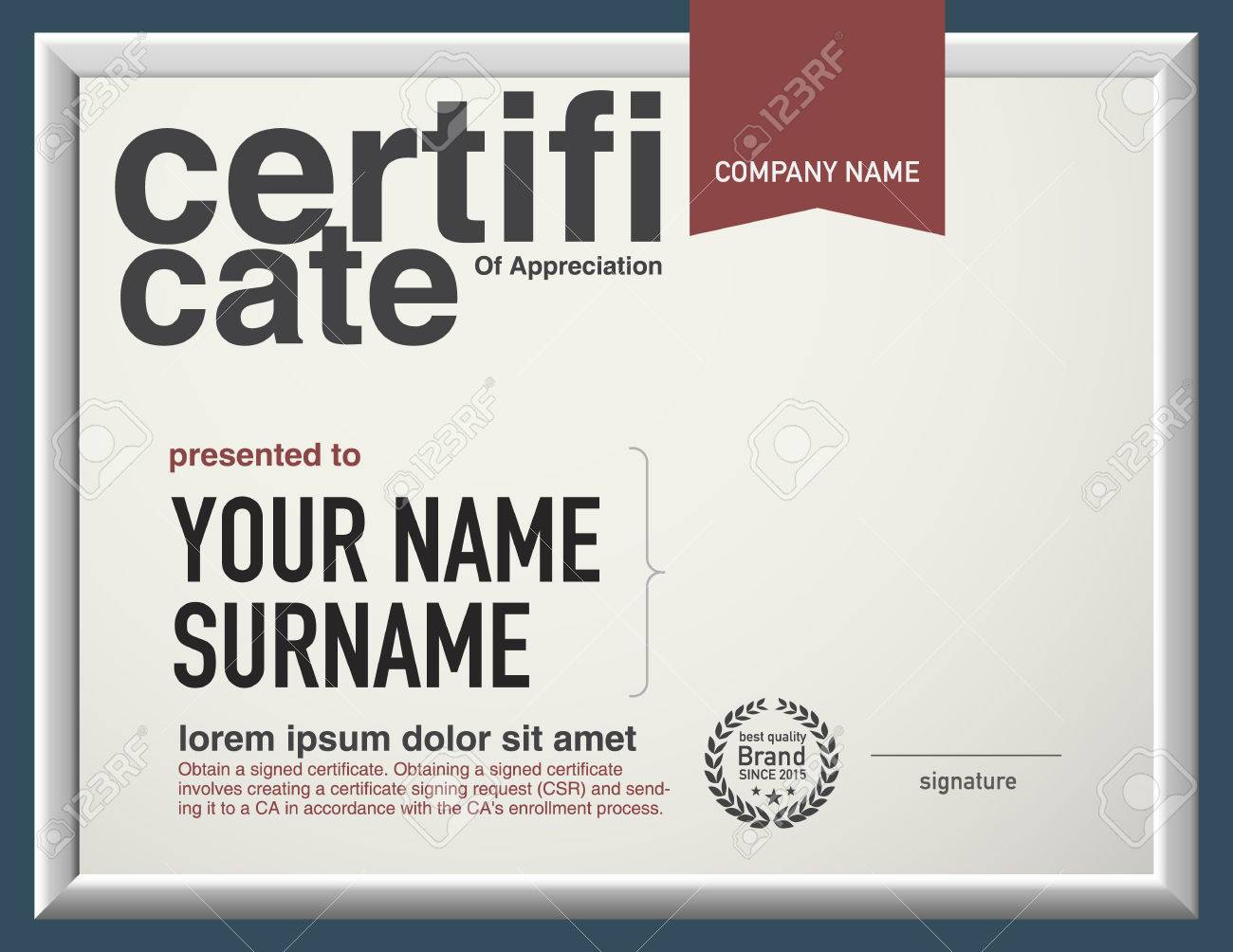 Modern Layout Vector Certificate Template. Royalty Free Cliparts ...