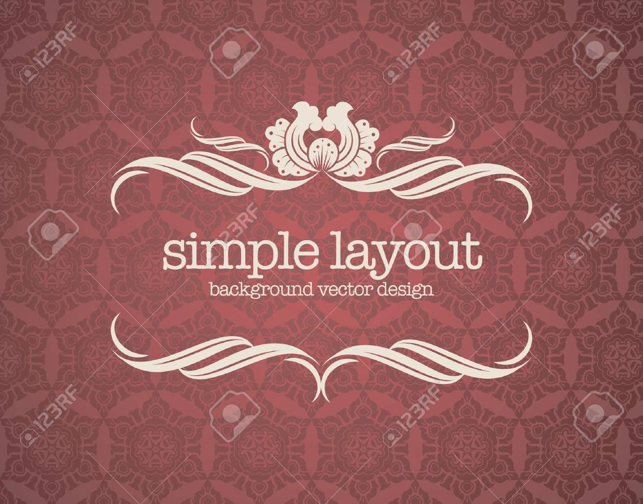 Luxury template flourishes calligraphic elegant ornament lines. - 40044383