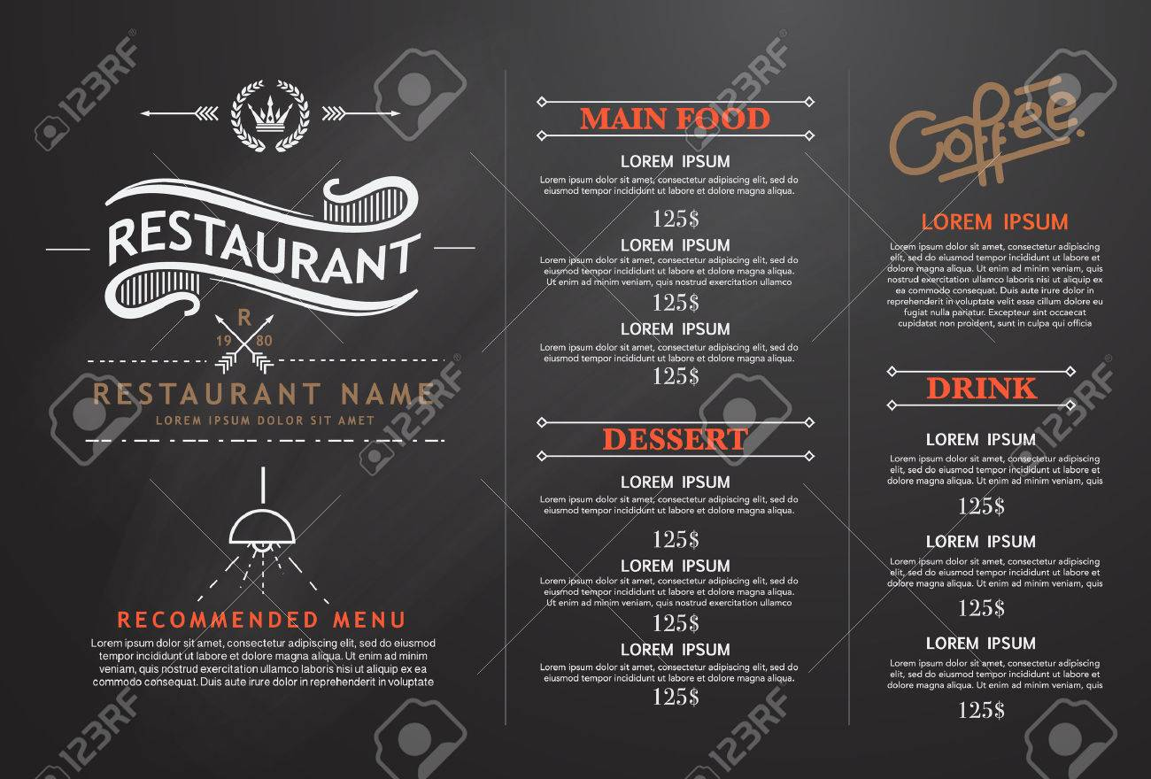Vintage And Art Restaurant Menu Design Royalty Free Cliparts Vectors And Stock Illustration Image 40044385