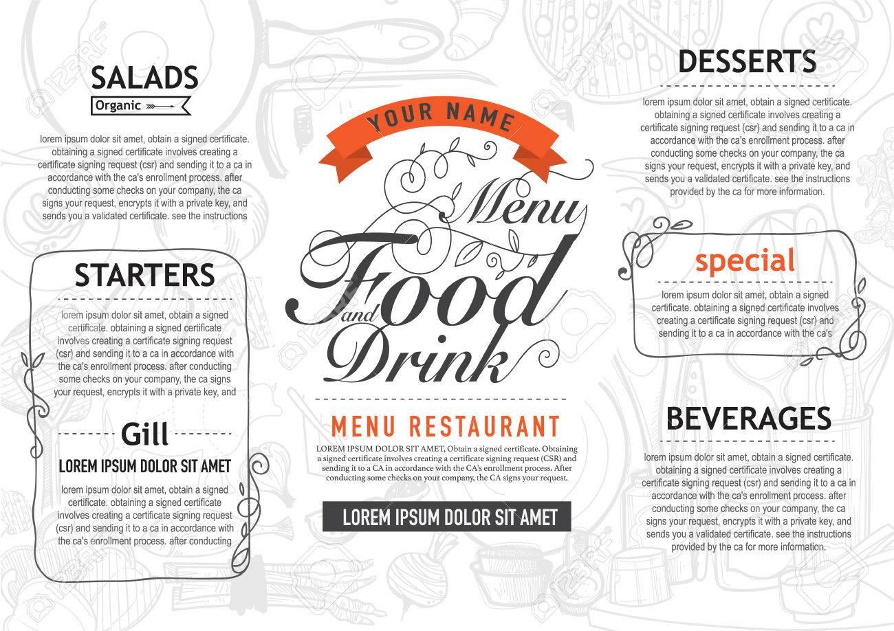Vektor Jahrgang Food-Design-Vorlage. Menü Restaurant Broschüre ...