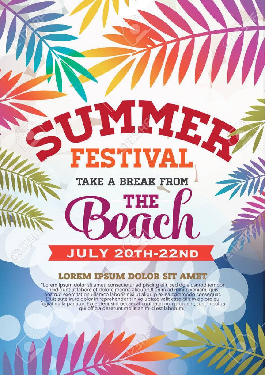 夏祭りのポスターとパンフレットのイラスト素材ベクタ Image 42471234