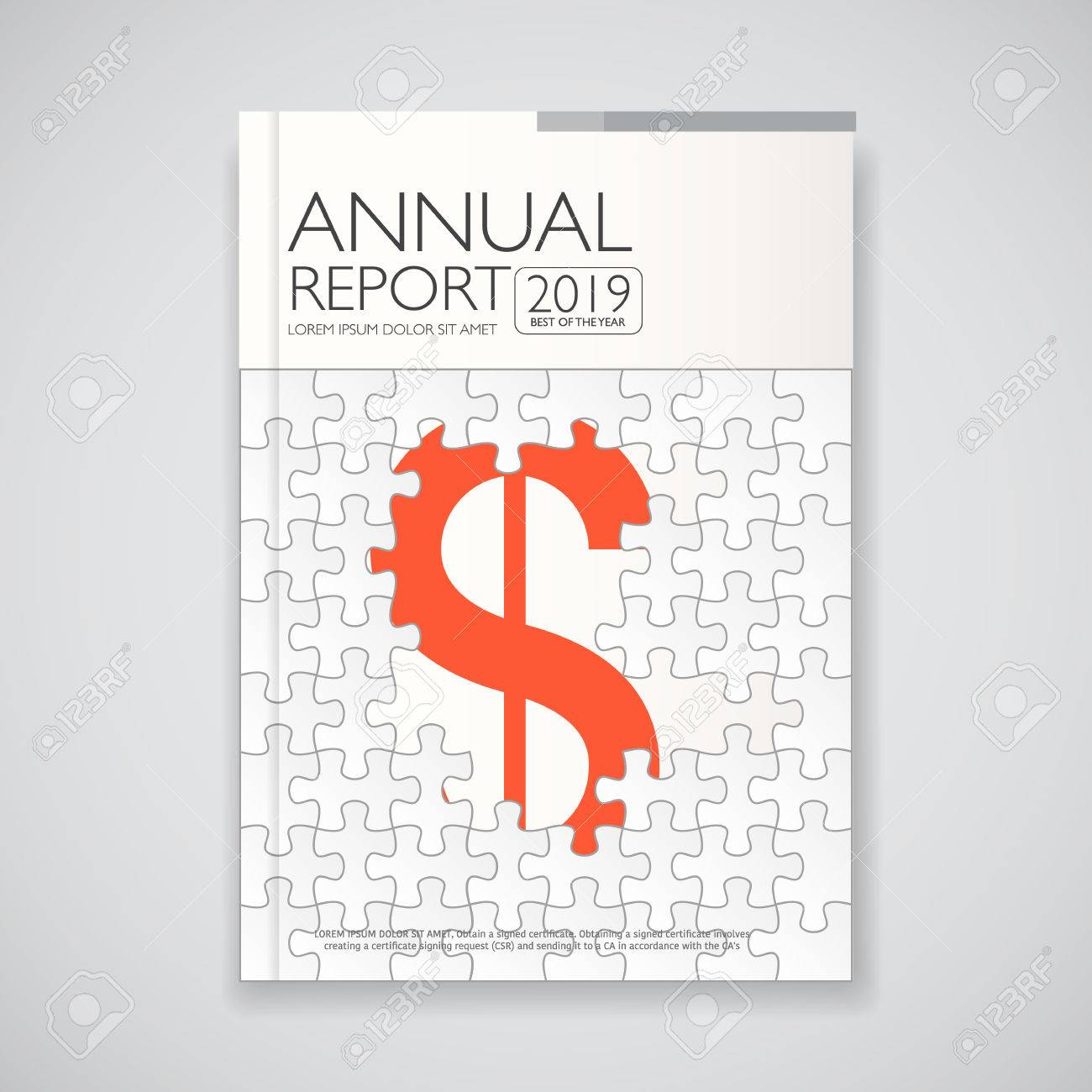 Modern Annual Report And Brochure Book Flyer Design Template