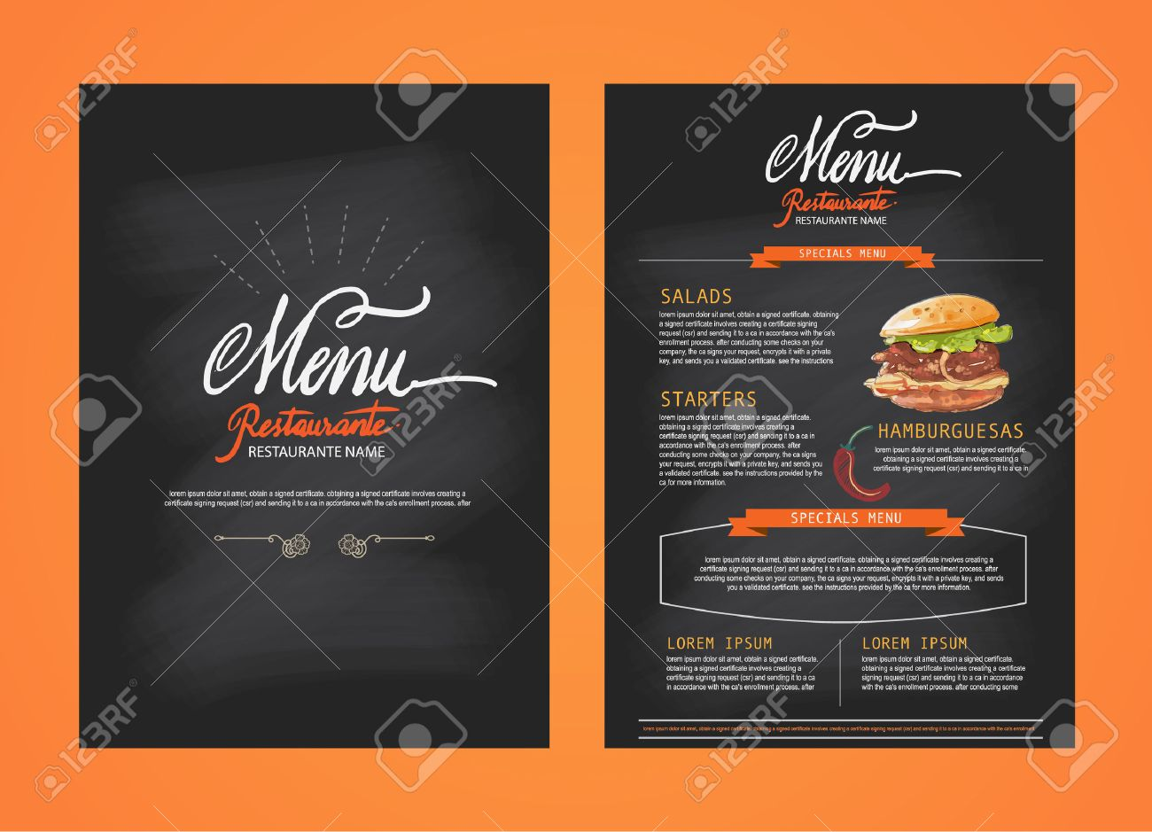 restaurant menu template design food flyer brochure stock vector 43272639