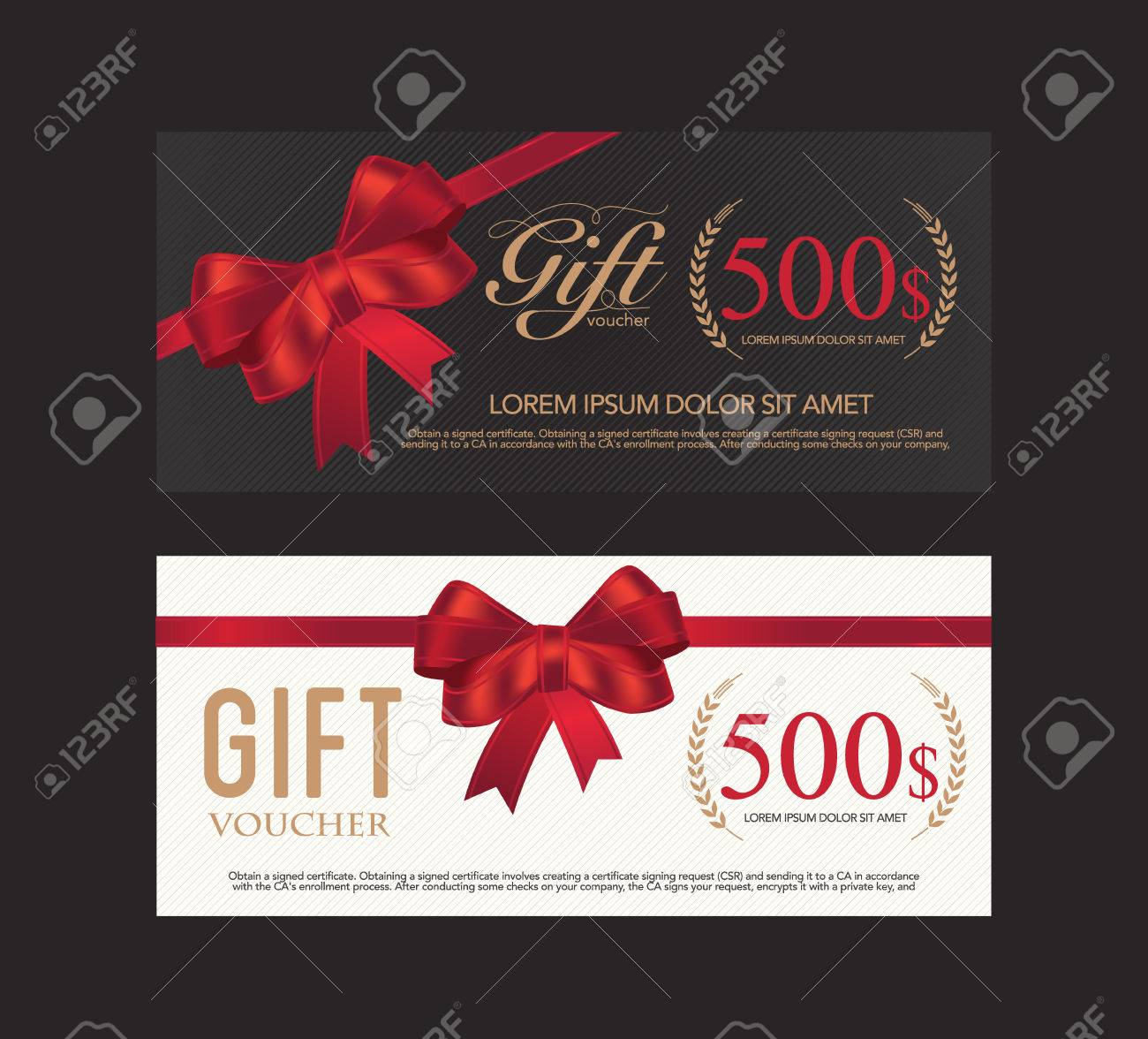 Voucher, Gift Certificate, Coupon Template. Royalty Free Cliparts ...