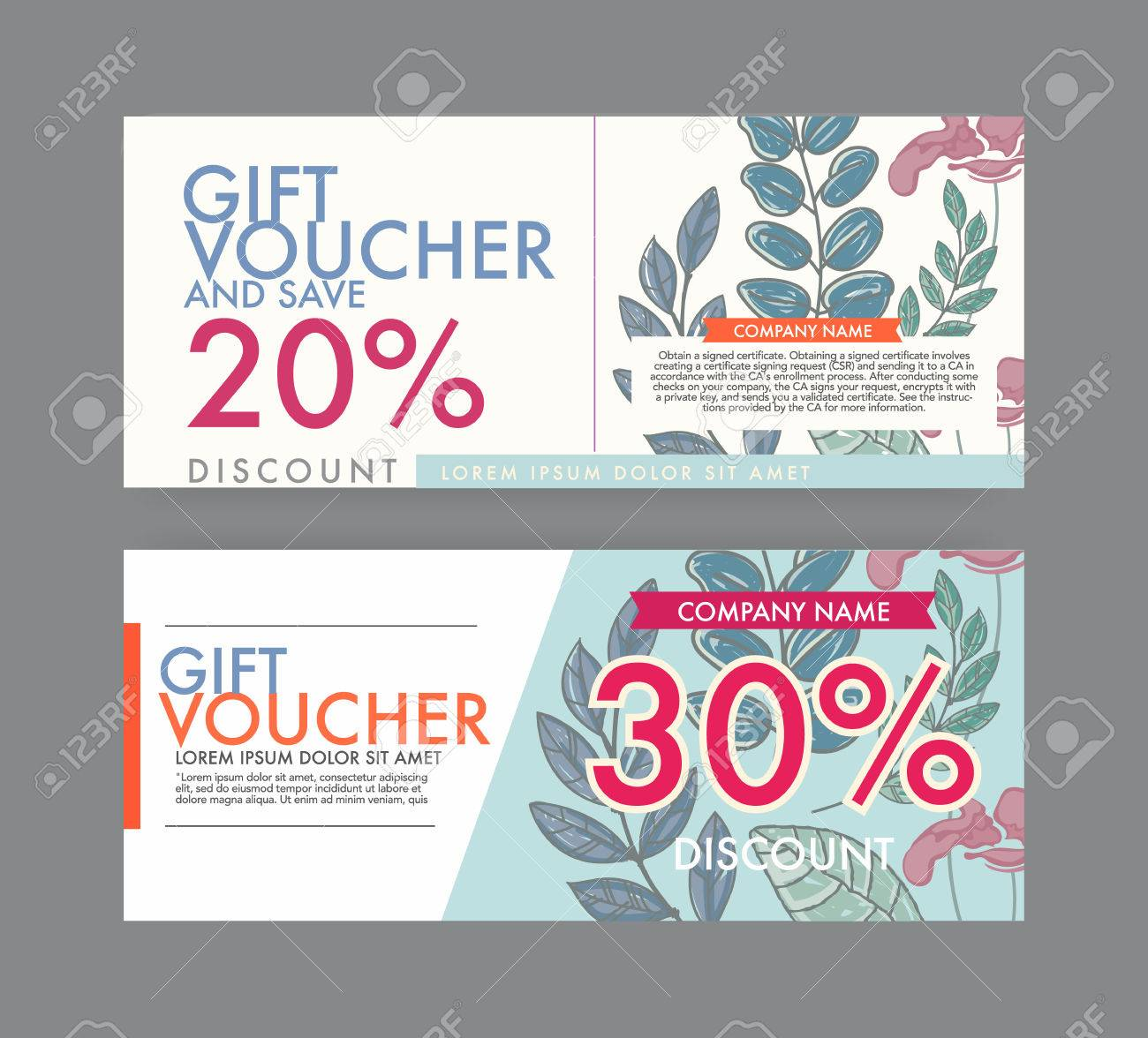 Gift Voucher Template With Vintage Style Royalty Free Cliparts