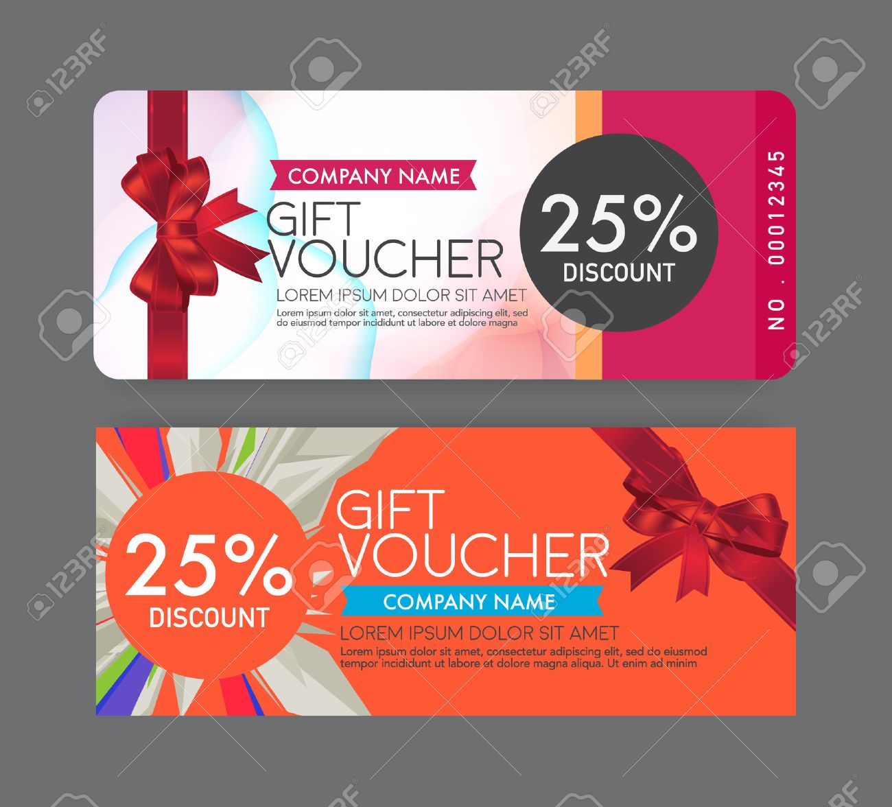 gift voucher template royalty cliparts vectors and stock gift voucher template stock vector 44547978