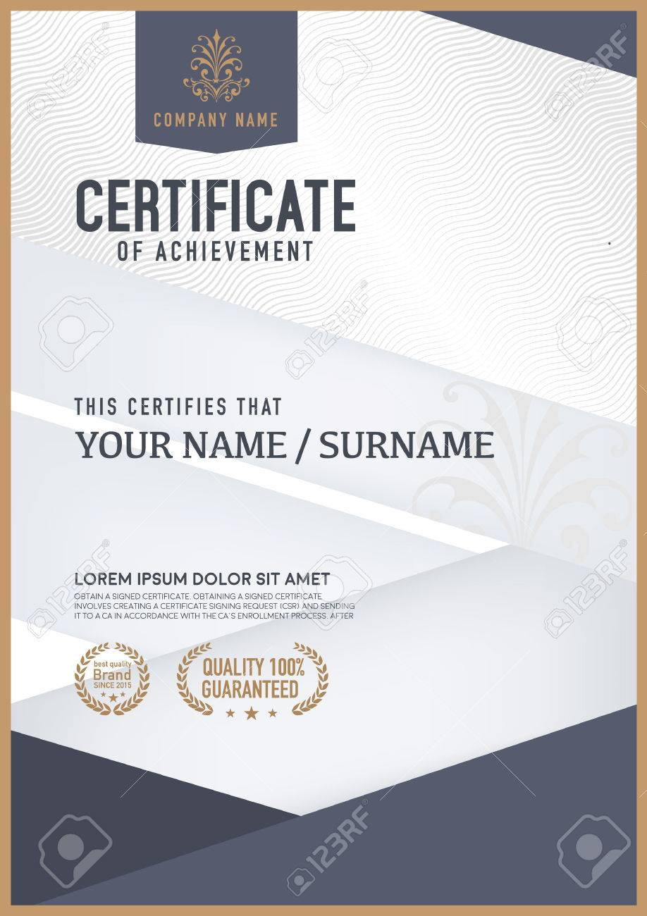 Vector Certificate Template. Royalty Free Cliparts, Vectors, And ...