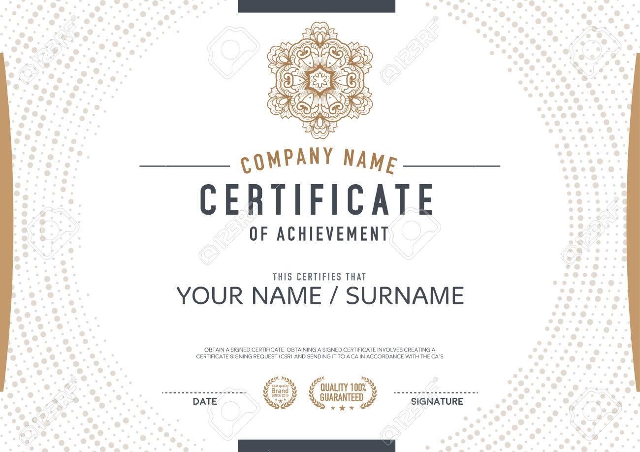 Vector Zertifikatvorlage. Luxuriös, Einzigartig Lizenzfrei Nutzbare ...