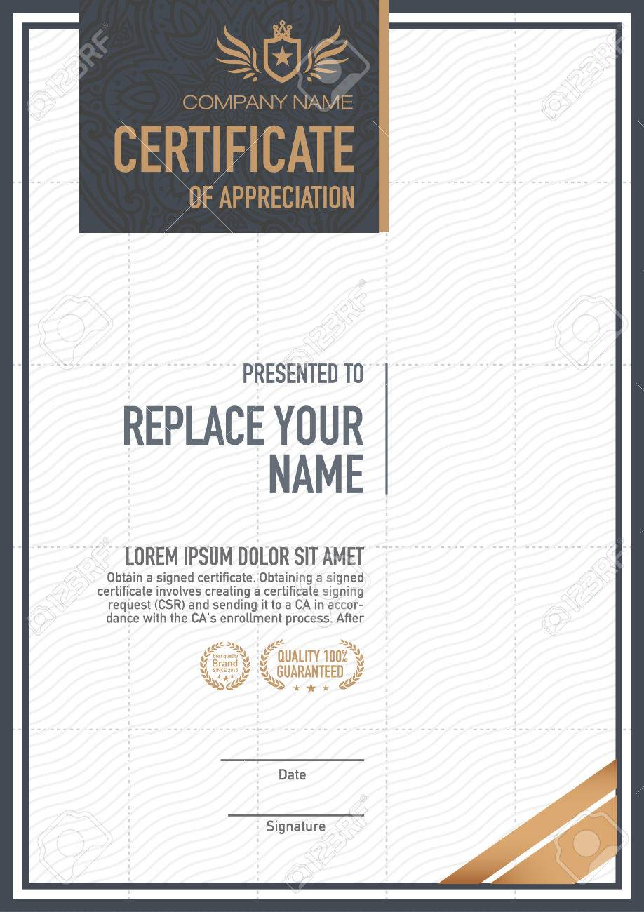 Certificate Template. Luxurious, Unique Royalty Free Cliparts ...