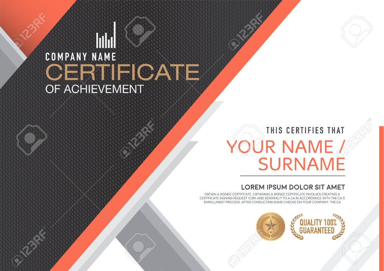 Certificate Template. Modern,luxurious, Unique Royalty Free Cliparts ...