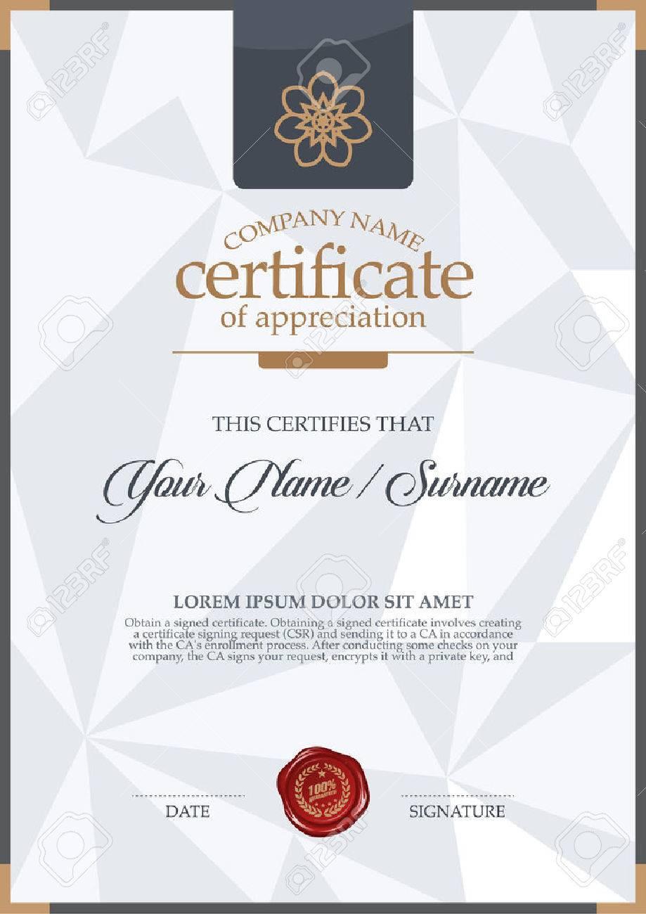 Vector certificate template vector certificate template 49829782 yelopaper Images