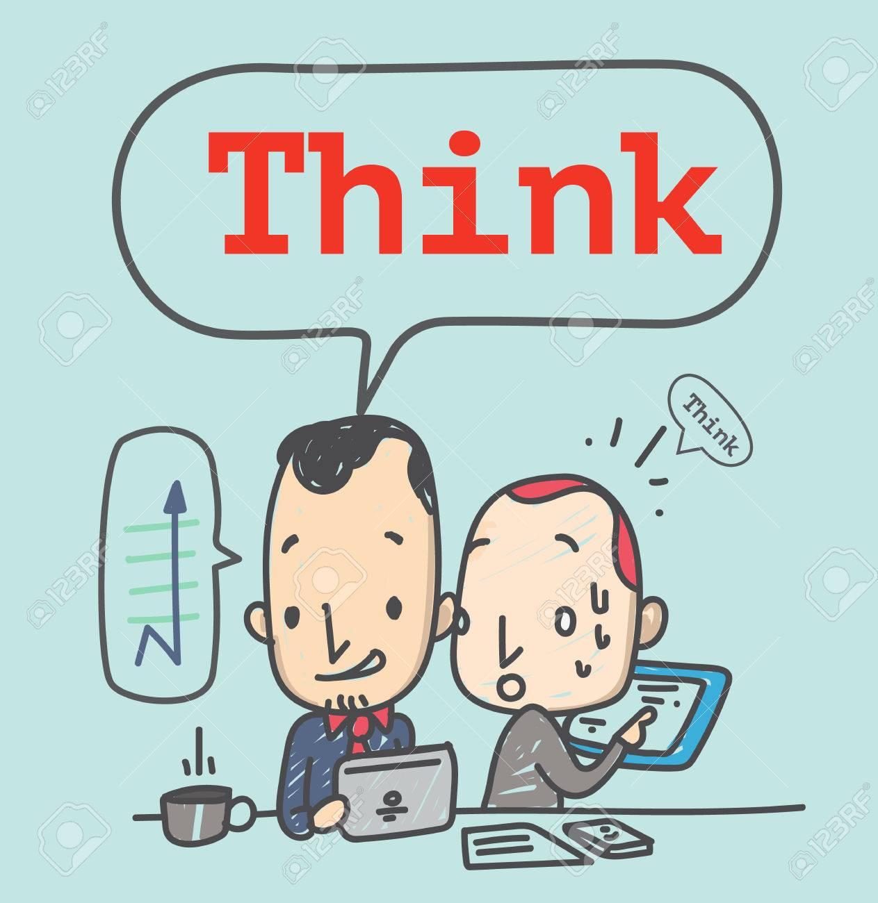 Dibujado A Mano De Dibujos Animados Estilo Hombre De Negocios Con