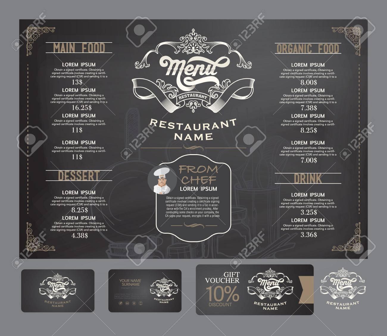 Vector restaurant menu template. - 52181042