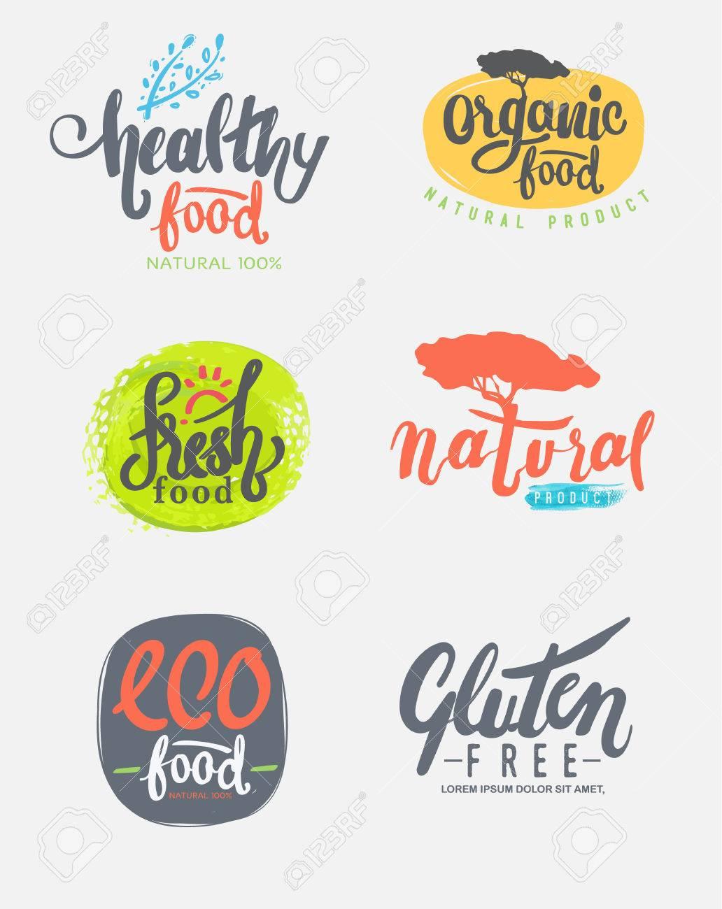 Bio Glutenfreie Öko Bio Gesunde Lebensmittel Restaurant Ein Menü ...