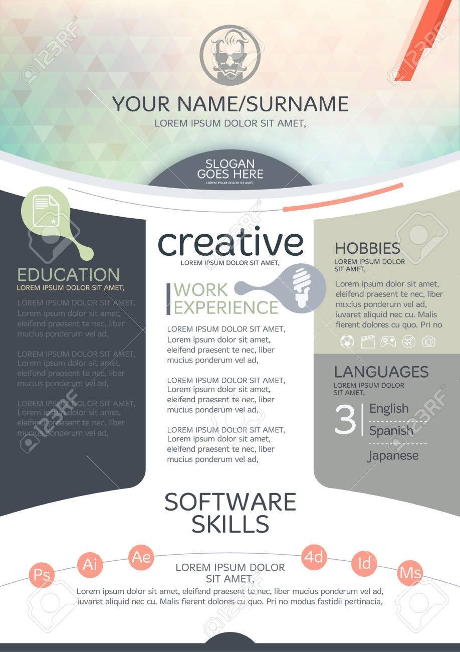resume template  CV, Brochure layout,magazine