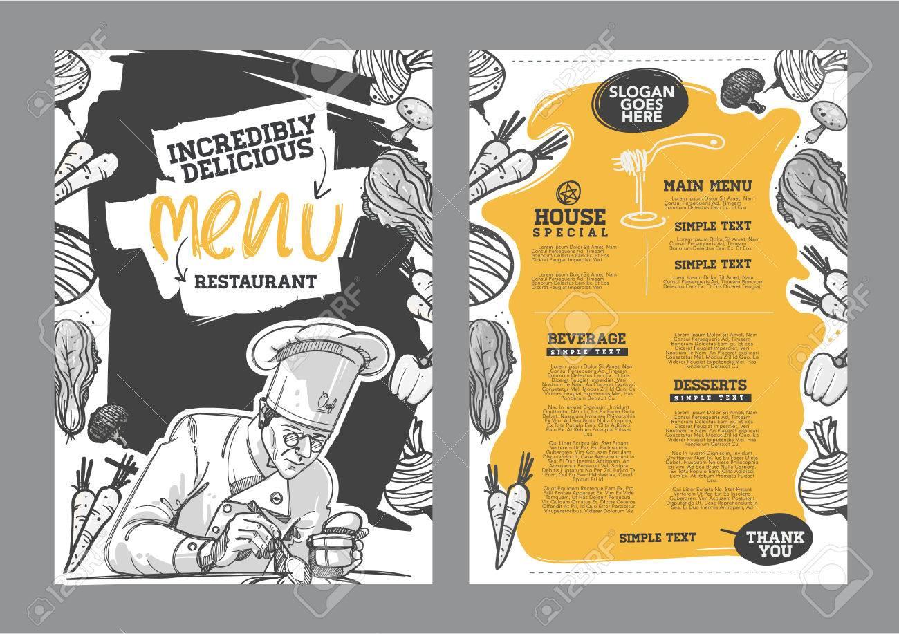 Creative menu design  Menu template and layout menu