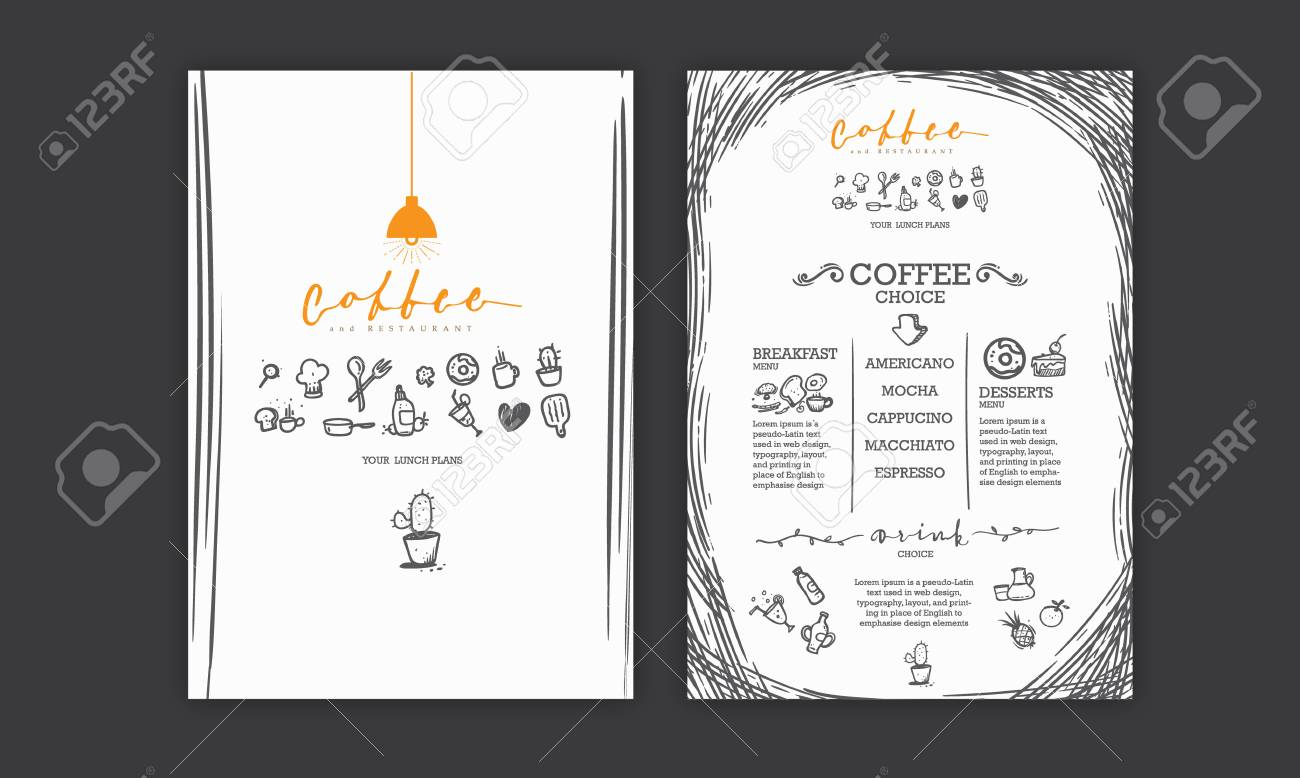 creative menu design menu template and layout menu icons and