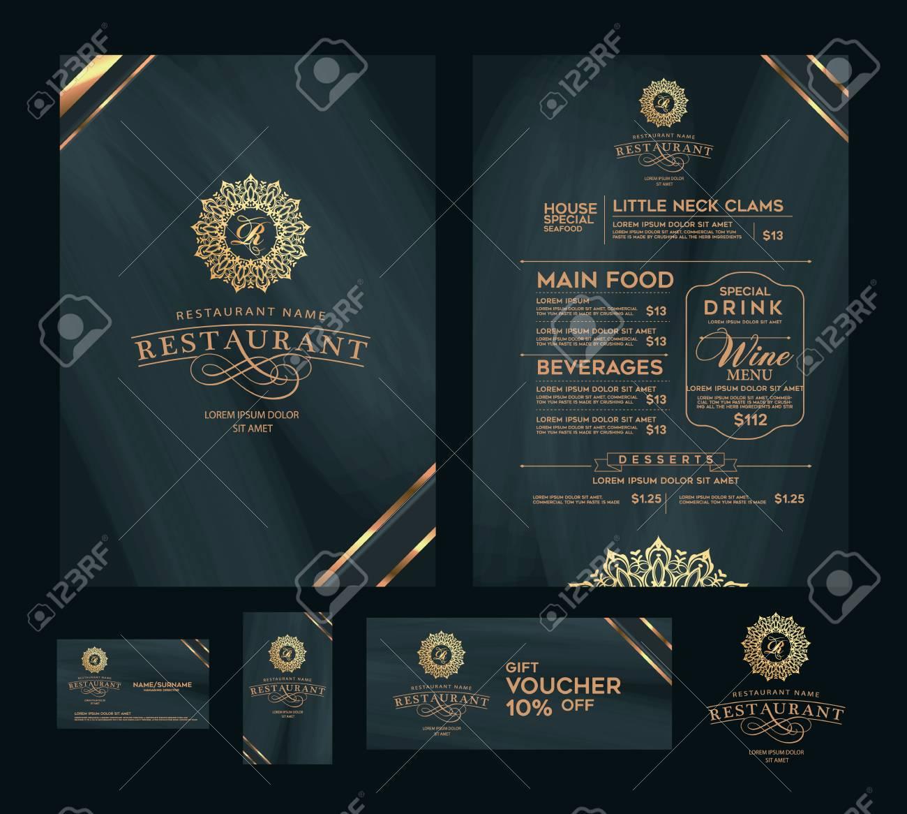 Creative Menu Design Layout Design Design Set For Menu Restaurant Royalty Free Cliparts Vectors And Stock Illustration Image 71498970