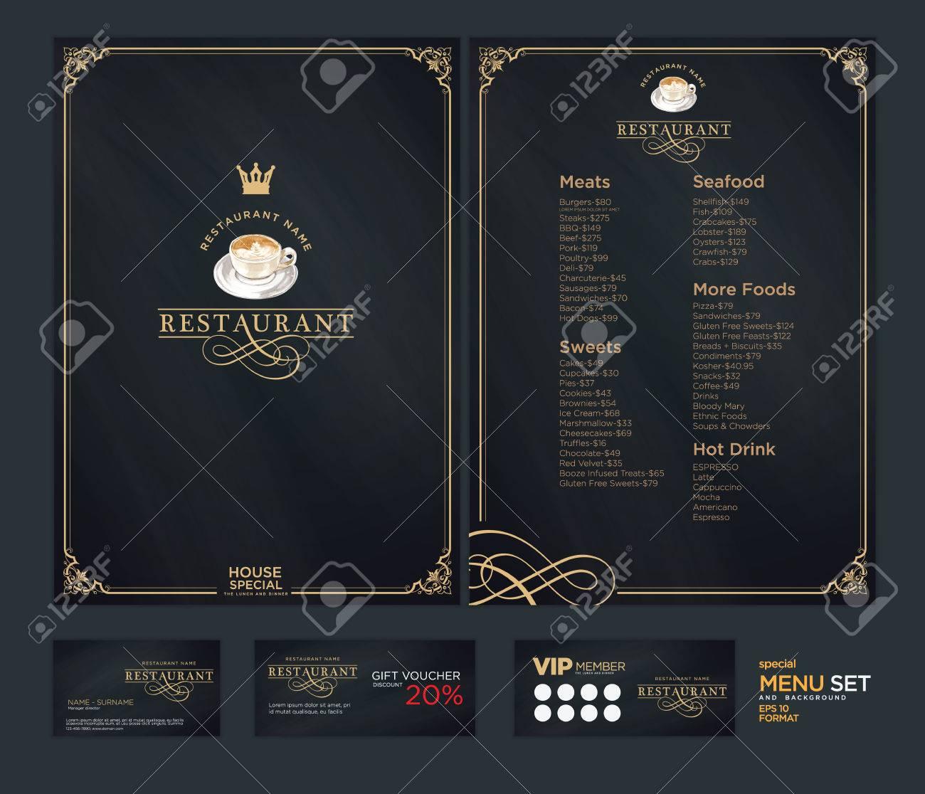 Creative Menu Design Layout Design Design Set For Menu Restaurant Royalty Free Cliparts Vectors And Stock Illustration Image 71498965