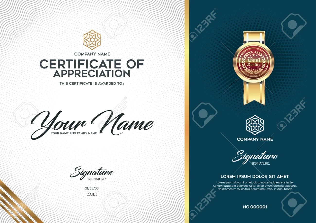 the layout and text format for certification certificates that