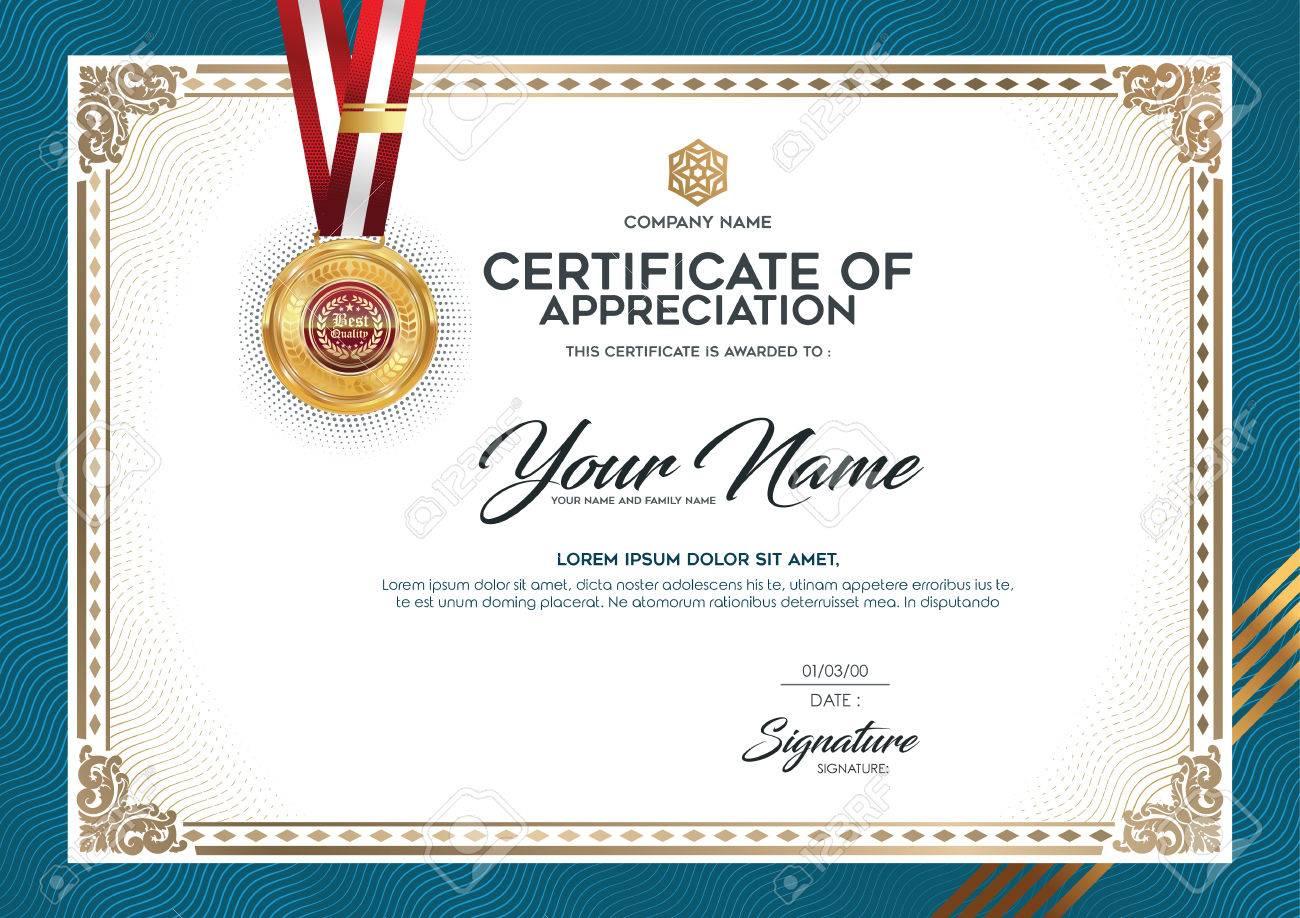 Das Layout Und Das Textformat Für Die Zertifizierung. Zertifikate ...
