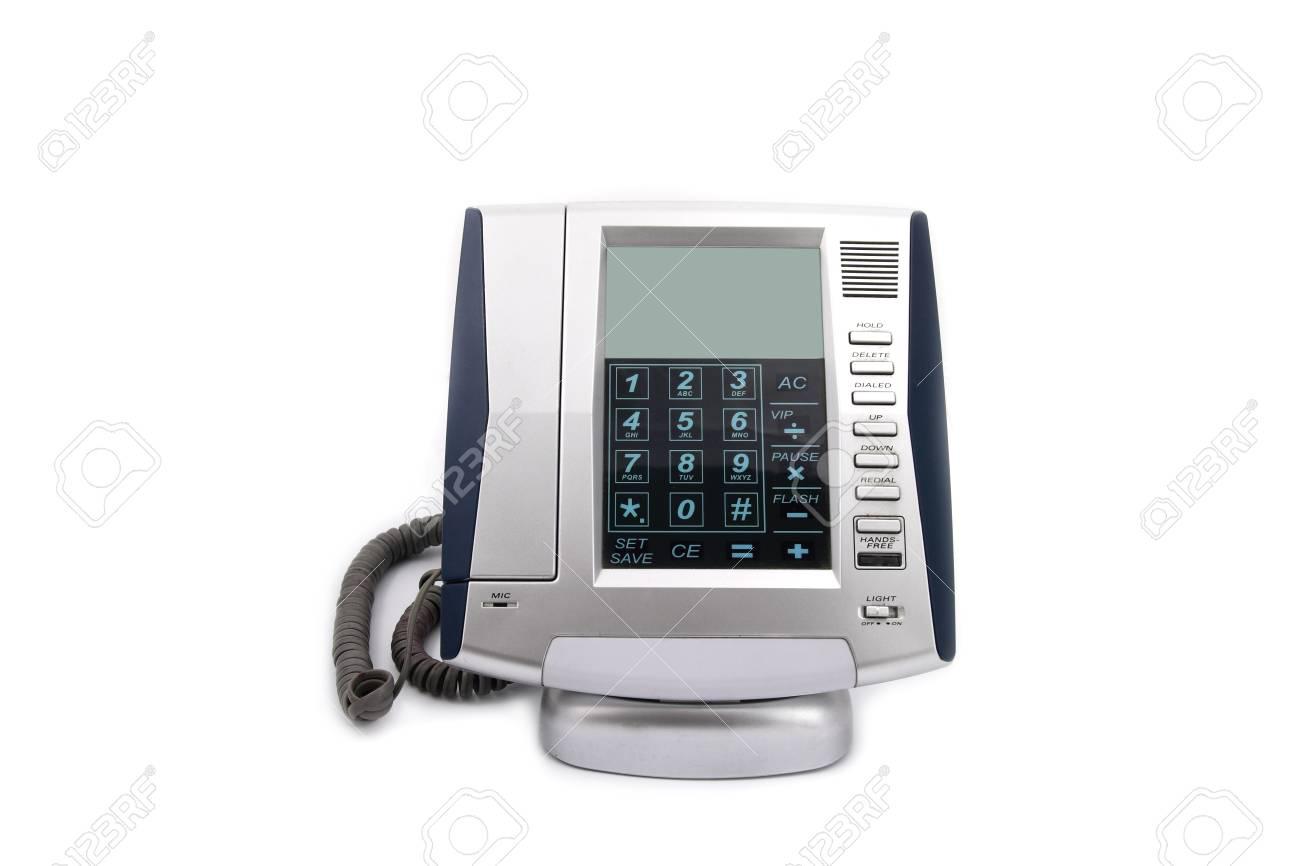 Business phone close up on white isolated background Stock Photo - 9514367