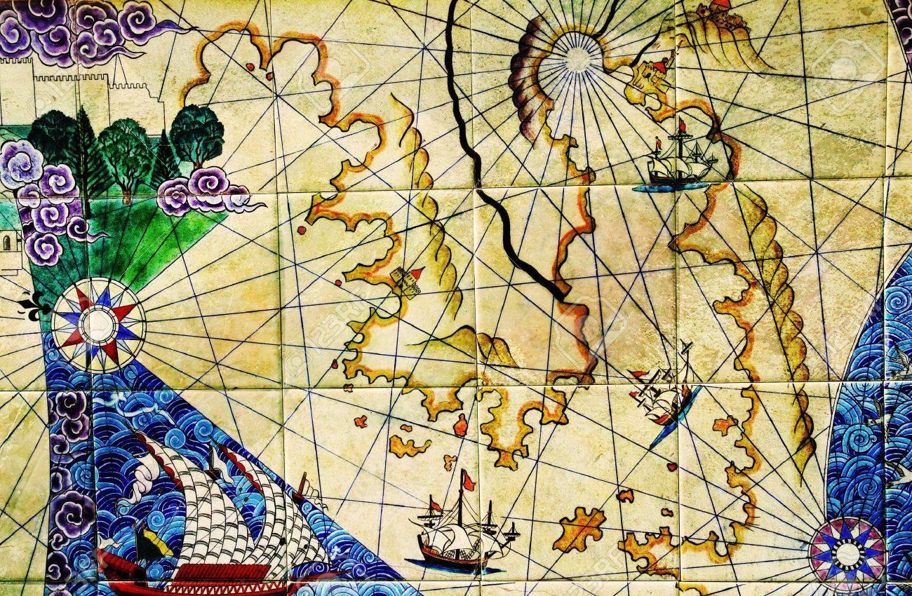 old nautical chart