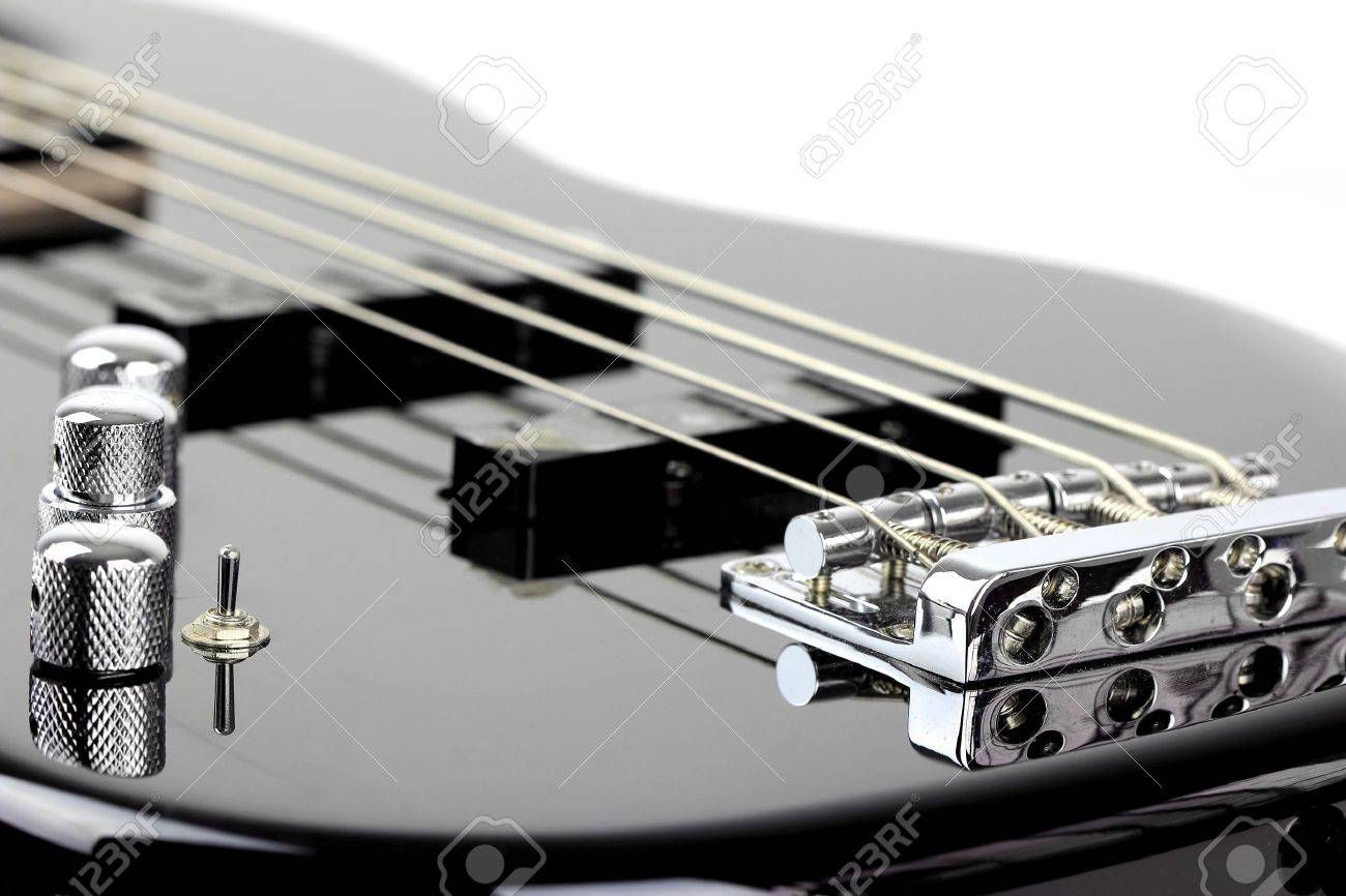 Electric Bass Guitar isolated on white background - 19020615