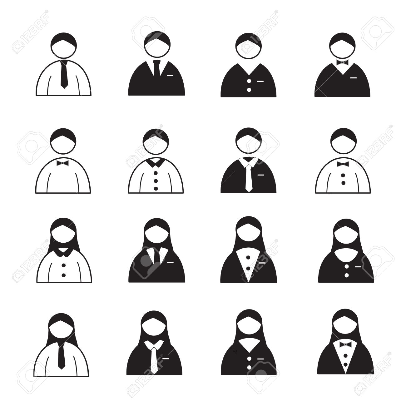 User Icons or People Icons Stock Vector - 20692200