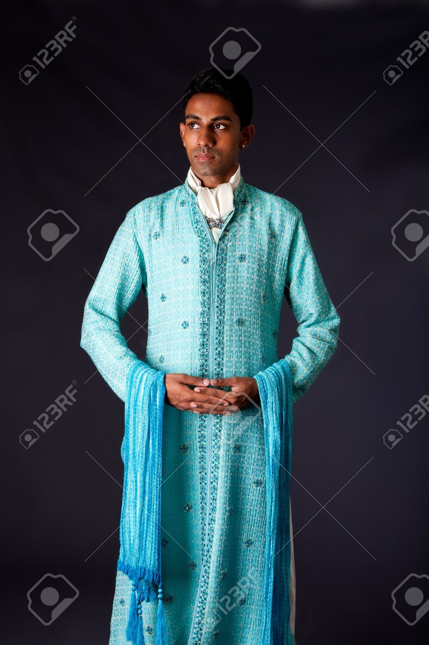 Beautiful Authentic Indian Hindu Man In Typical Ethnic Groom.. Stock ...