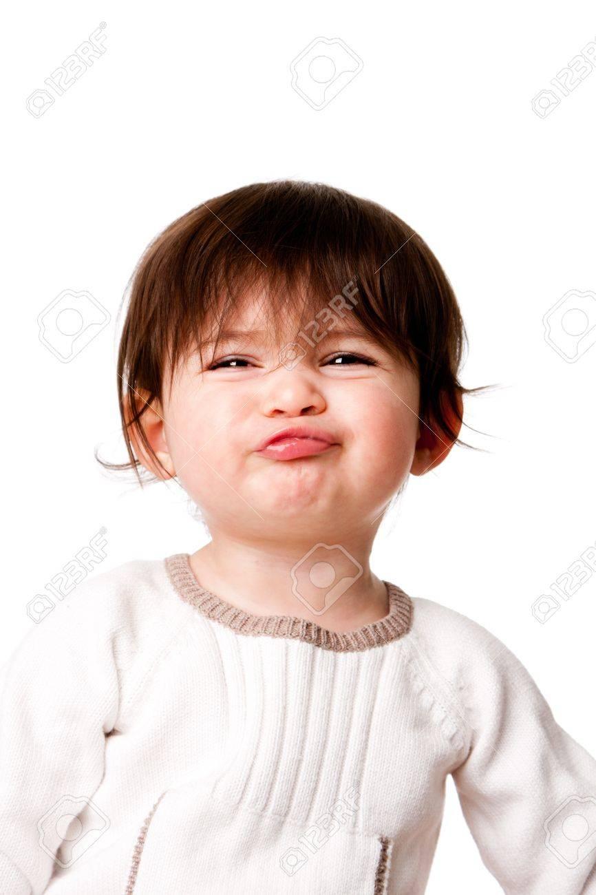 Cara De Niño Infantil De Niño De Bebé Con Expresión Divertida Y