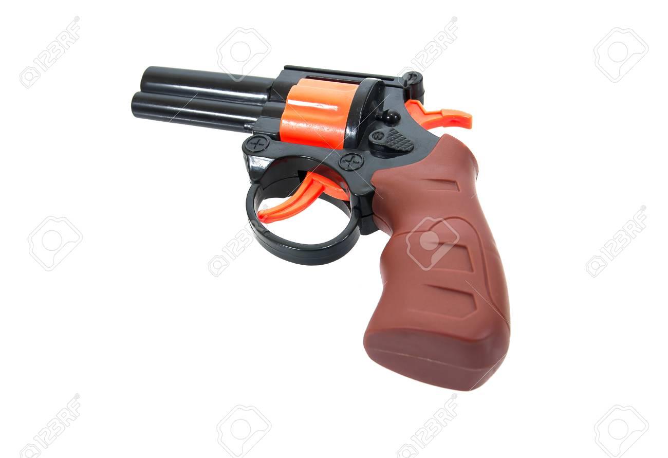 Juguete toy Mano Pistola La Background Niño Para De En toy Gun Aislado Arma Plástico Blanco El CBtsrxhQd