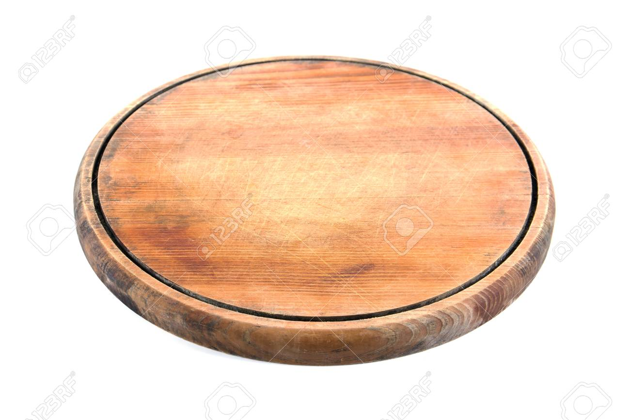 Round Wooden Cutting Board Isolated On White Background Round Stock Photo Picture And Royalty Free Image Image 76702983