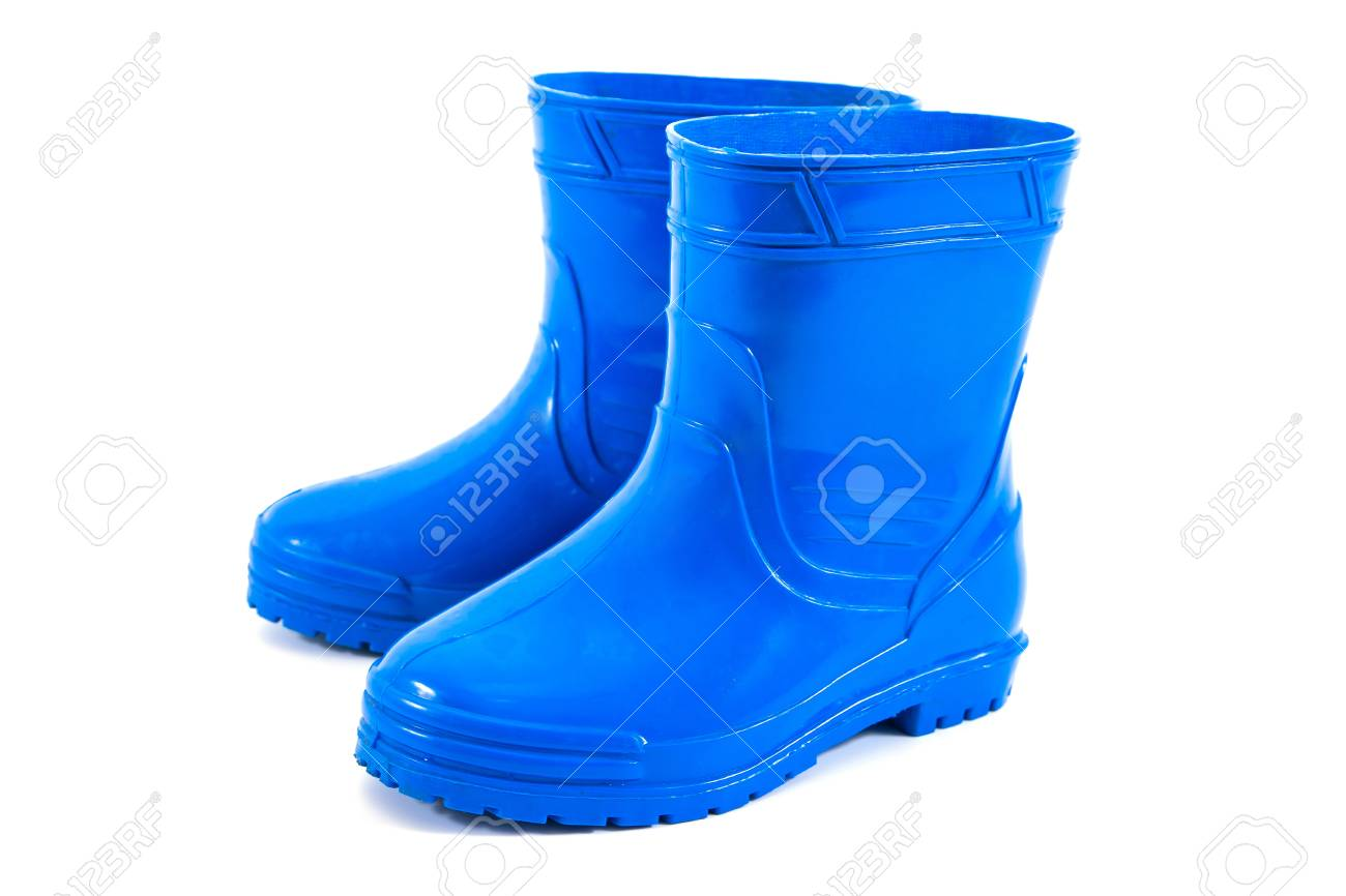 Kids Rubber Boots Isolated On White