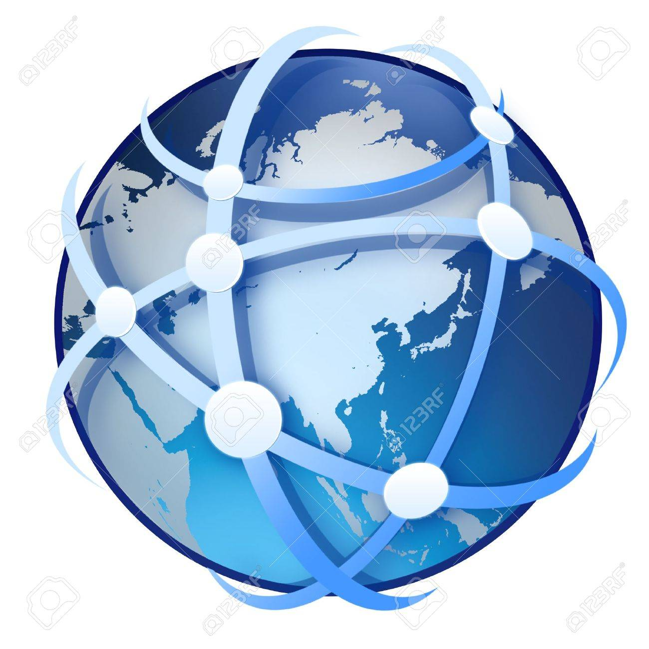 earth globe on white background Stock Photo - 9652636