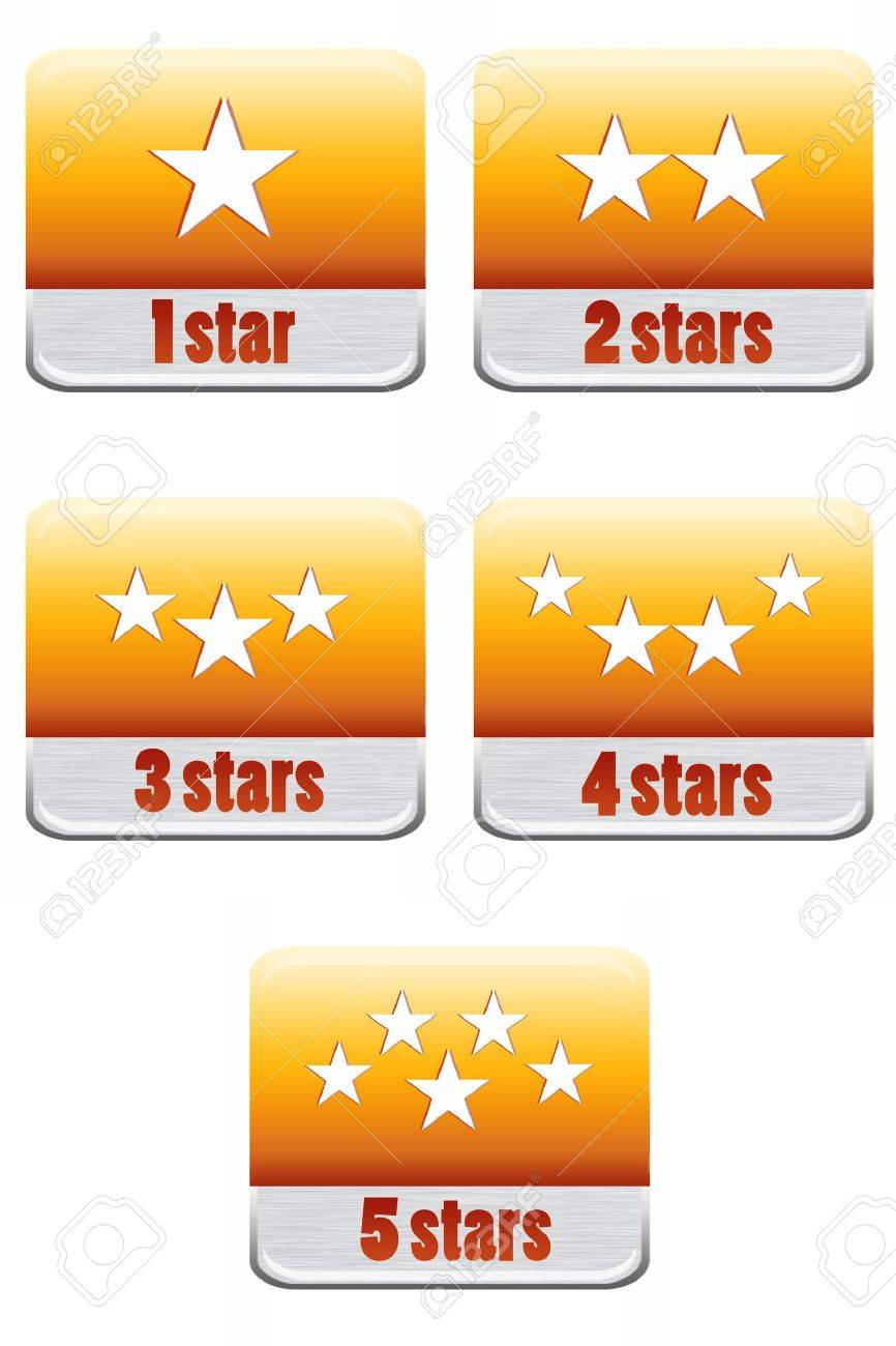 Five stars ratings Collection Stock Photo - 9699375