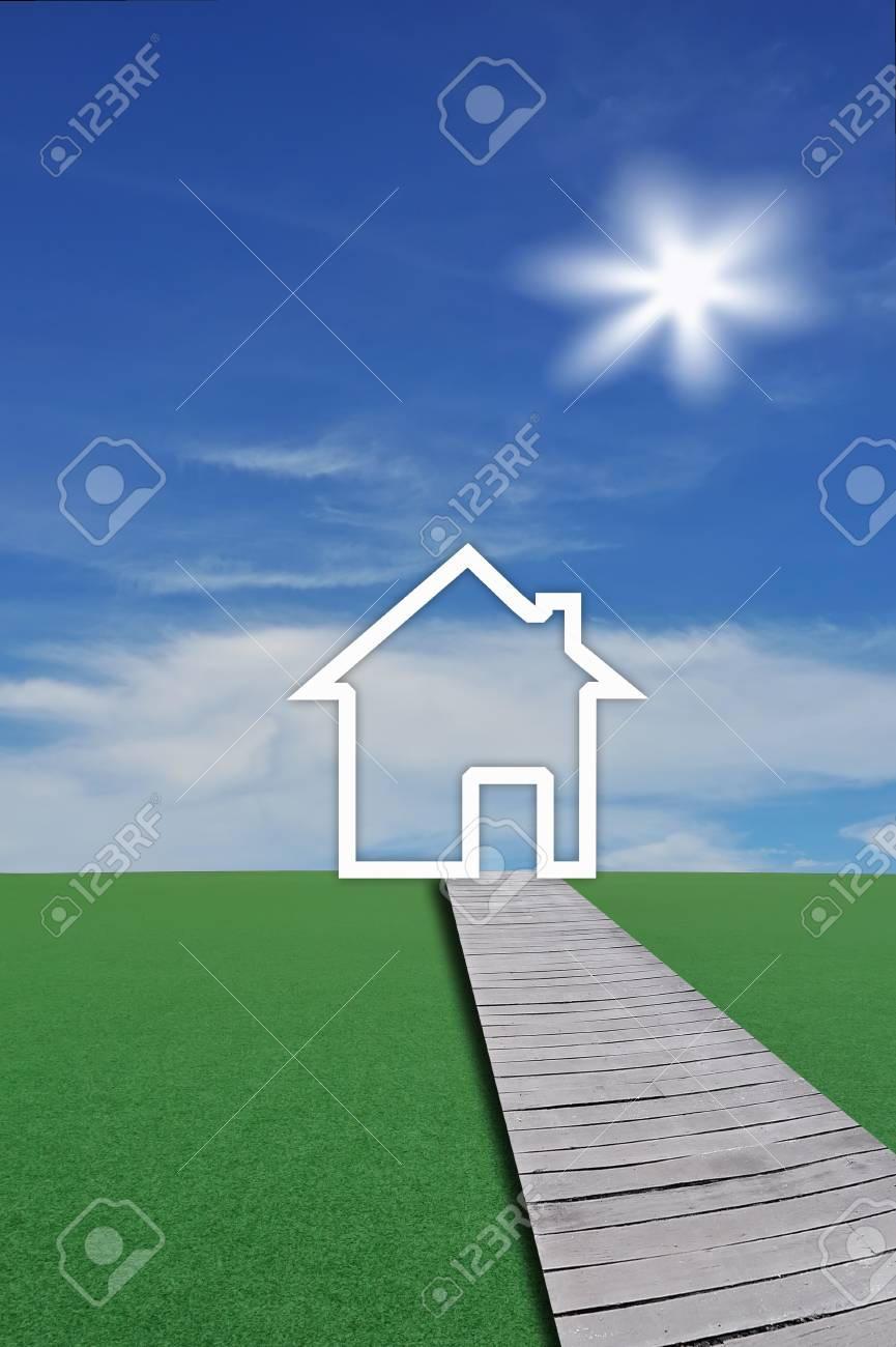 House on the lawn Stock Photo - 9841826