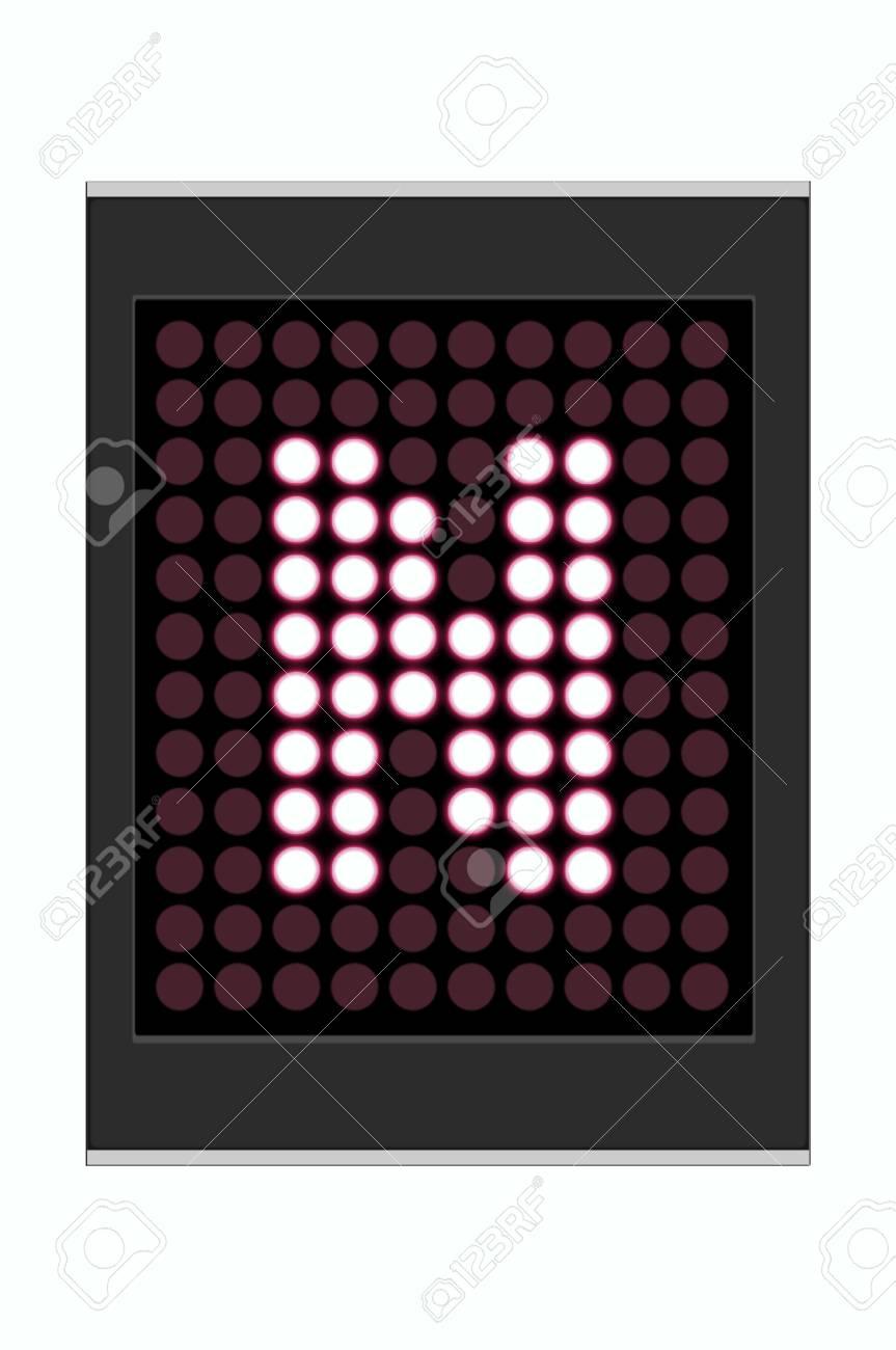 LED Display shows alphabet letter Stock Photo - 10283646